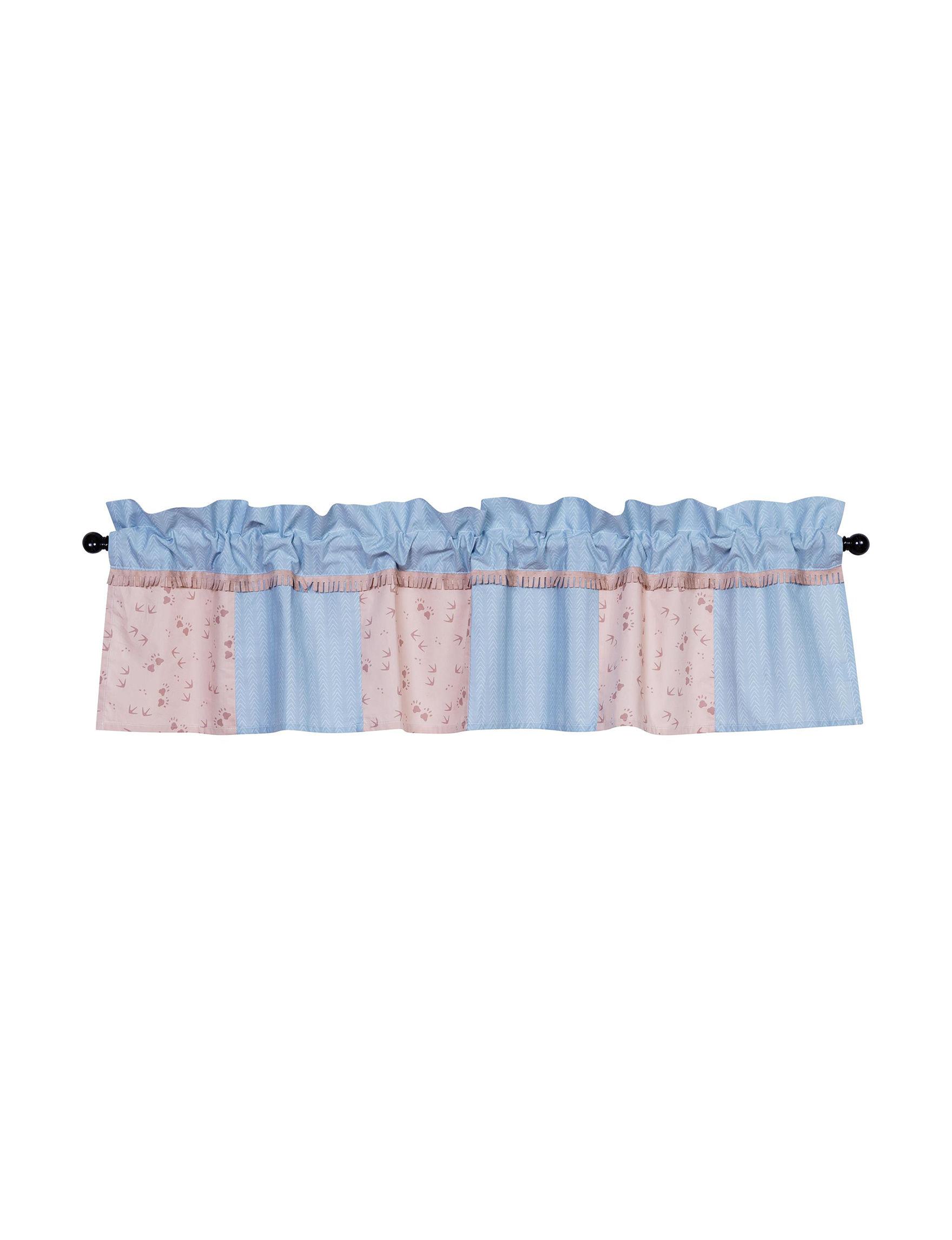 Trend Lab Brown / Blue Valances Window Treatments