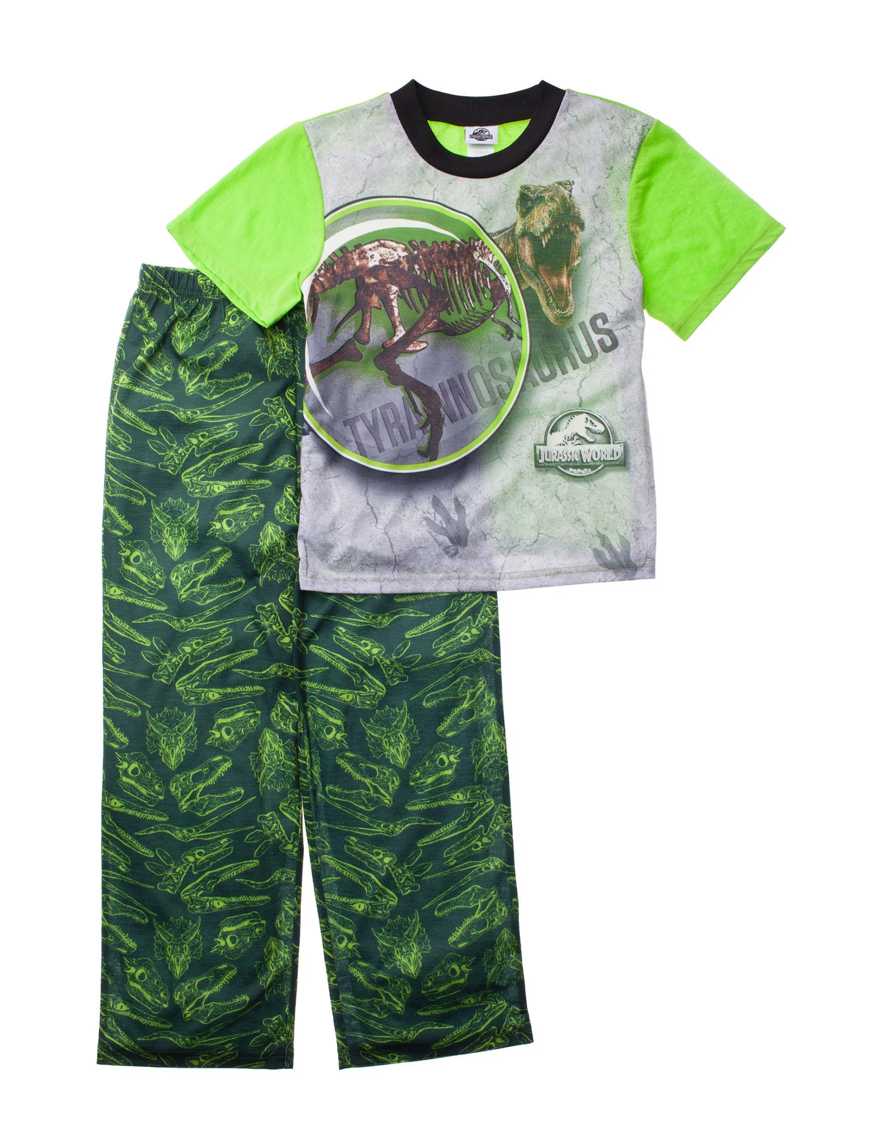 Licensed Green Multi Pajama Sets