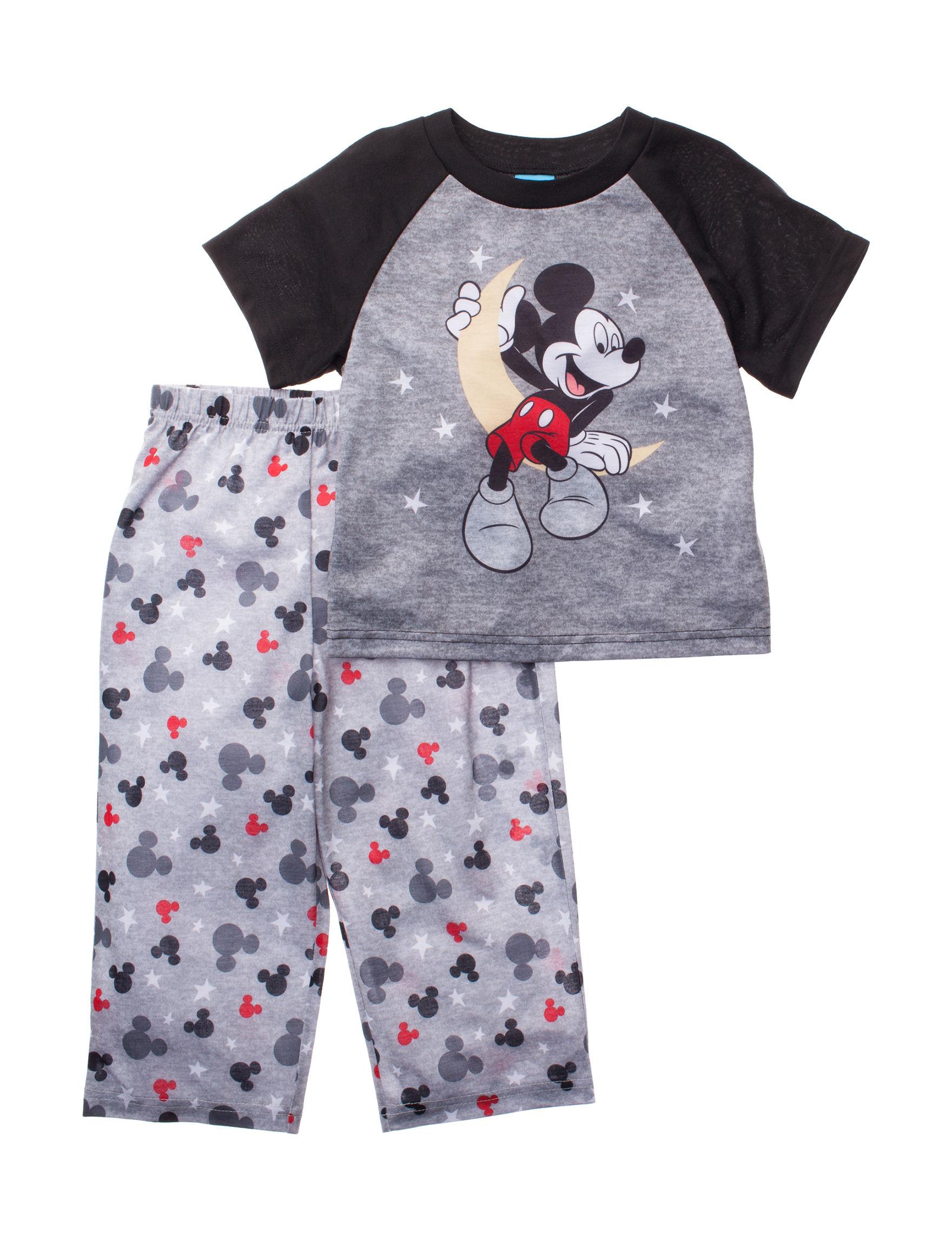 Licensed Grey Multi Pajama Sets