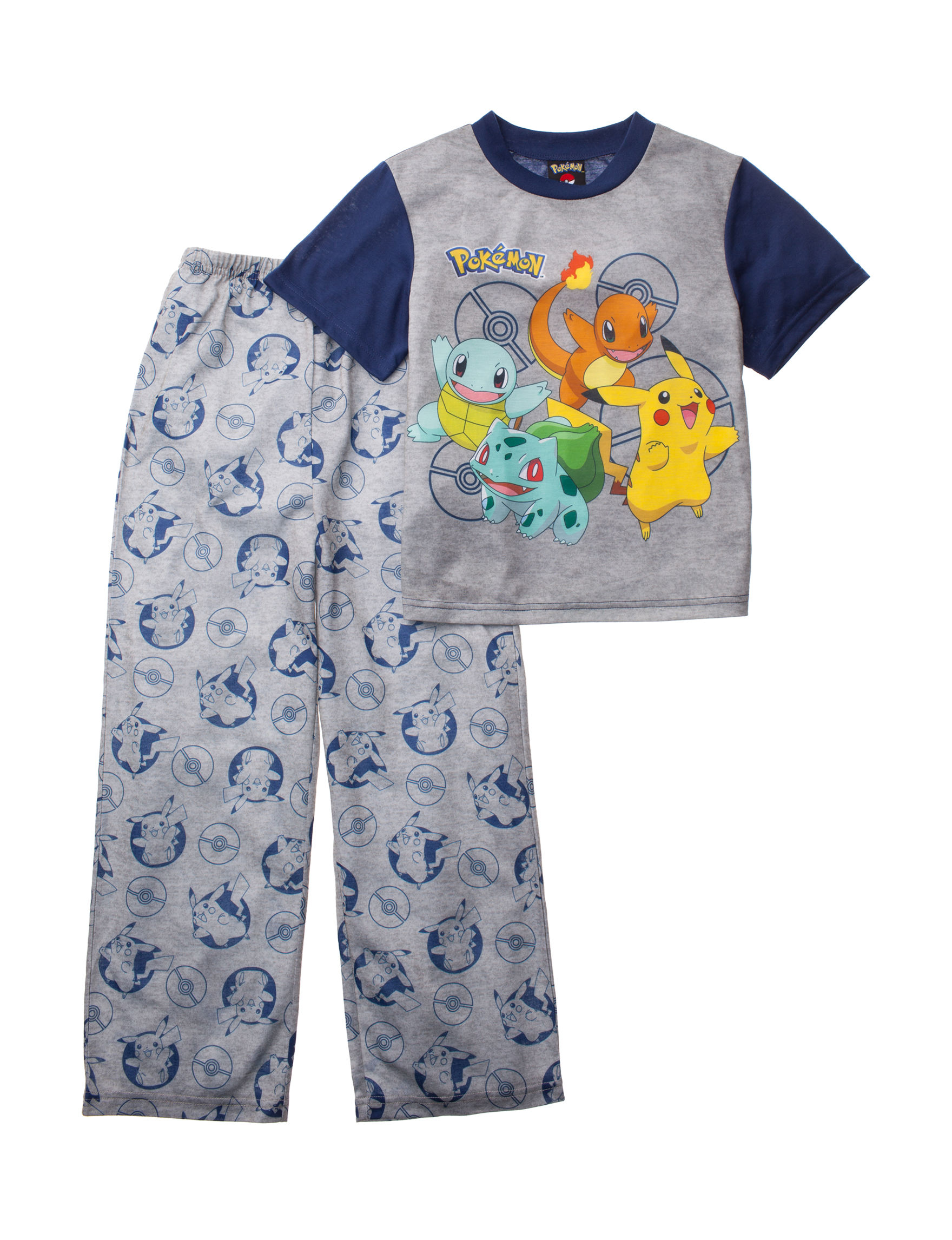 Licensed Grey Multi Pajama Sets