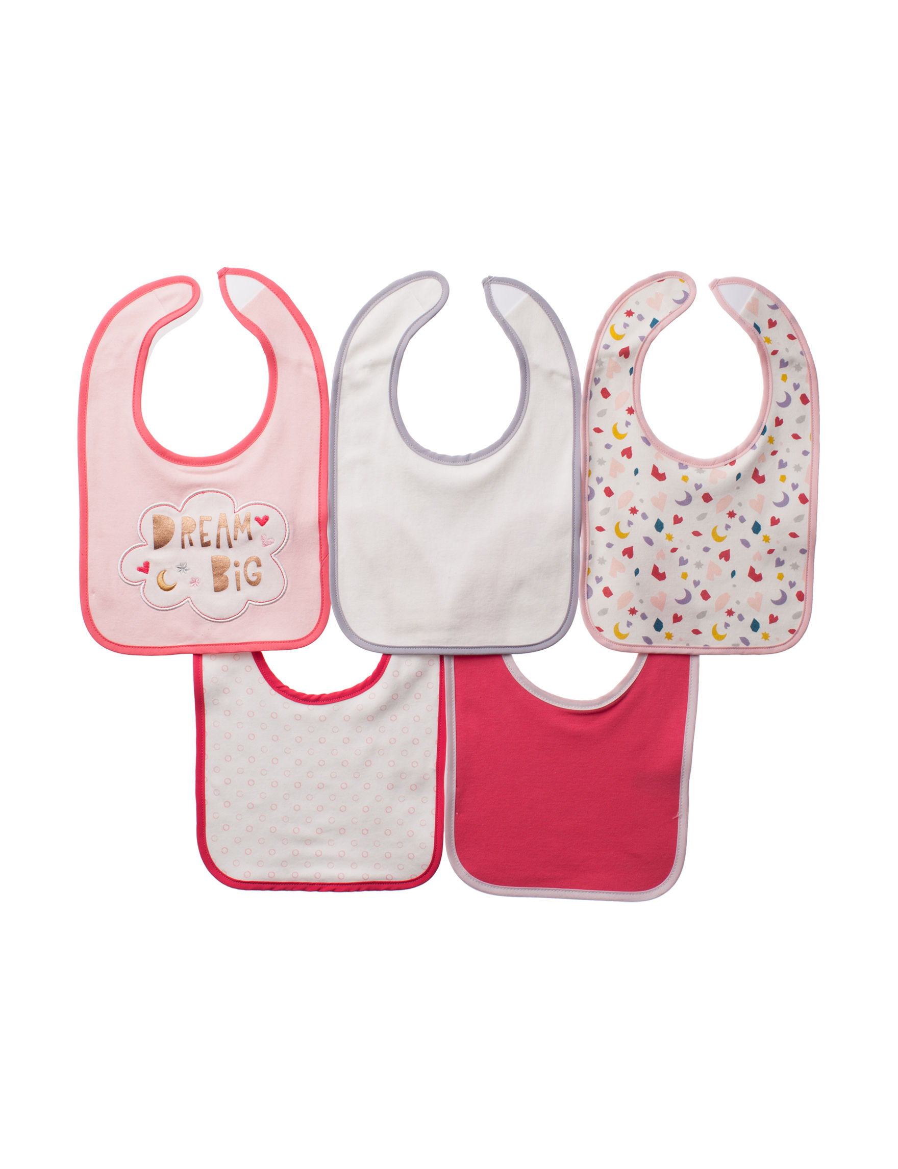 Cutie Pie Pink Multi Bibs & Burp Cloths