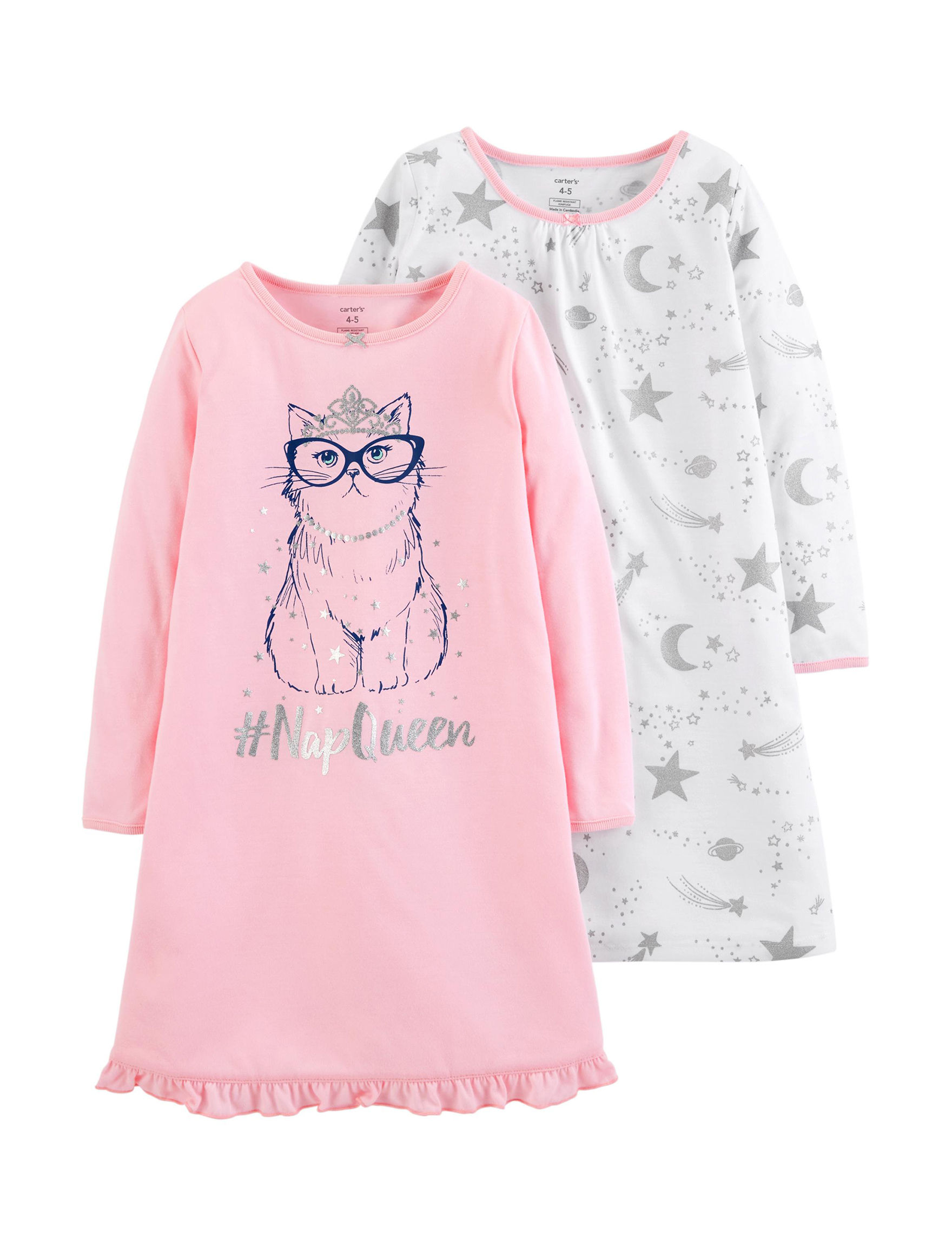 Carter's Pink/ White/ Grey Nightgowns & Sleep Shirts