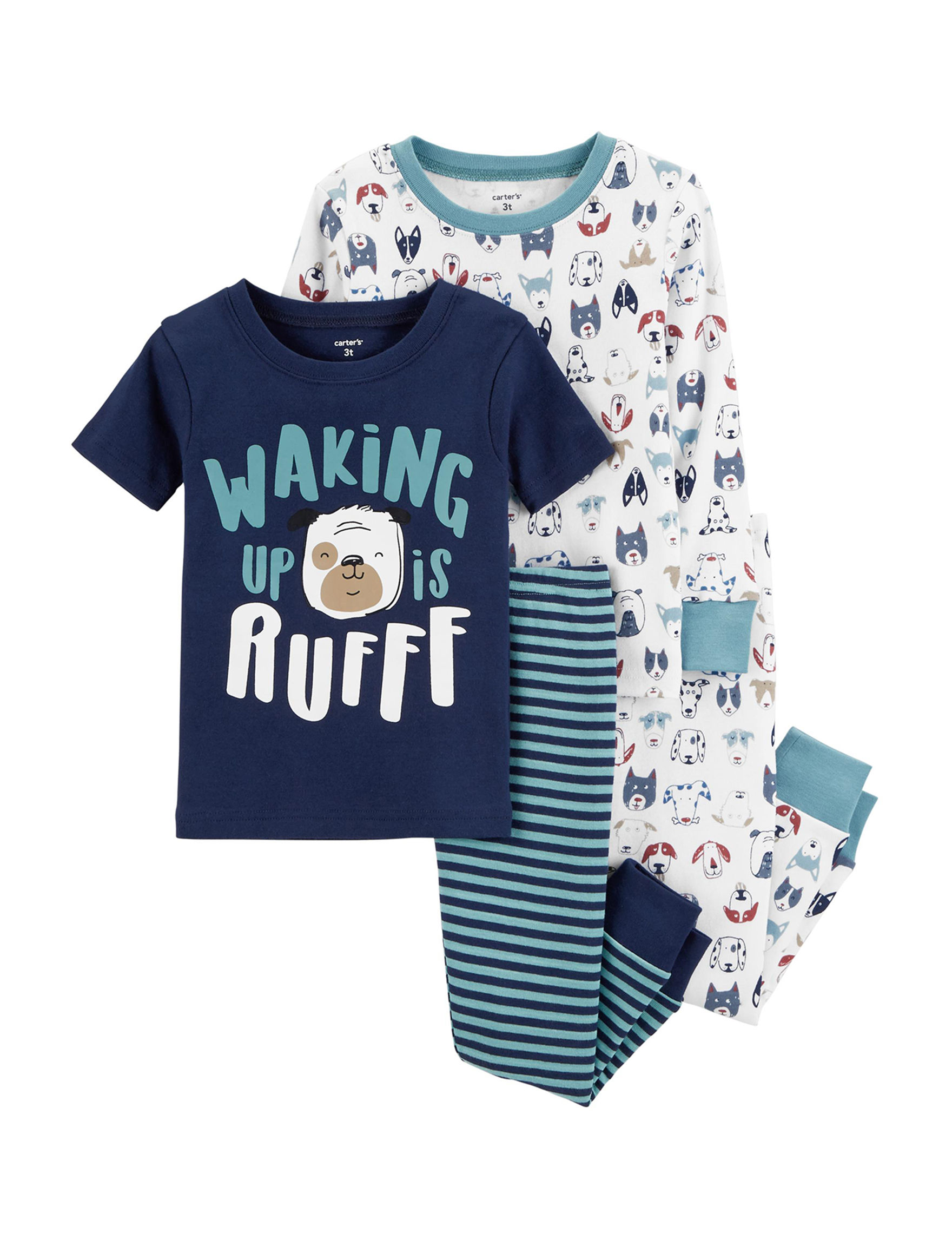 Carter's Blue/White Stripe Pajama Sets