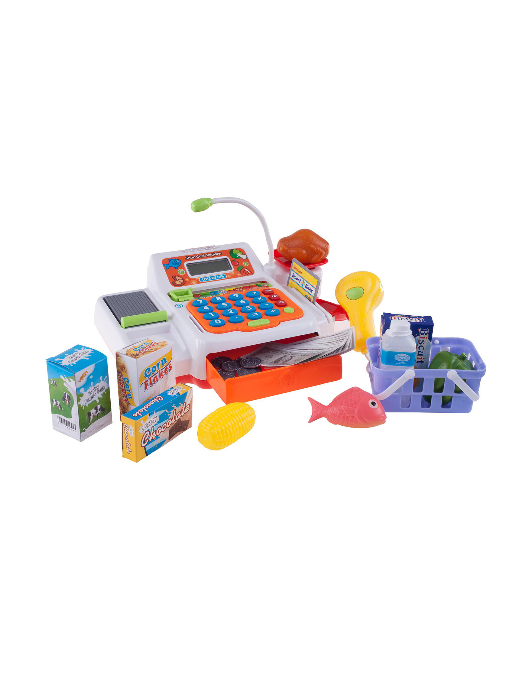 Hey! Play! 34-pc. Pretend Electronic Cash Register Set - Multi - Hey! Play!