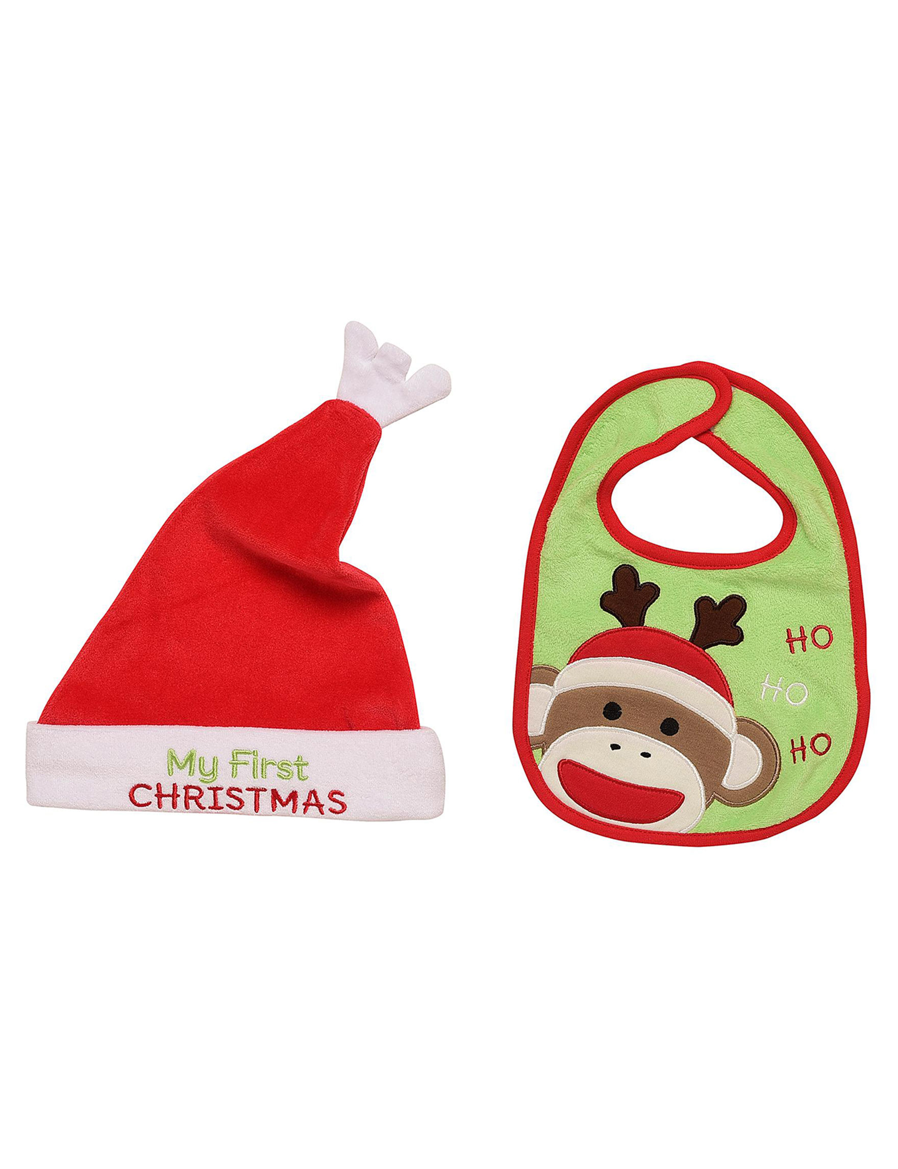 Baby Starters 2-pc. My First Christmas Hat   Bib Set f6fbaedf647