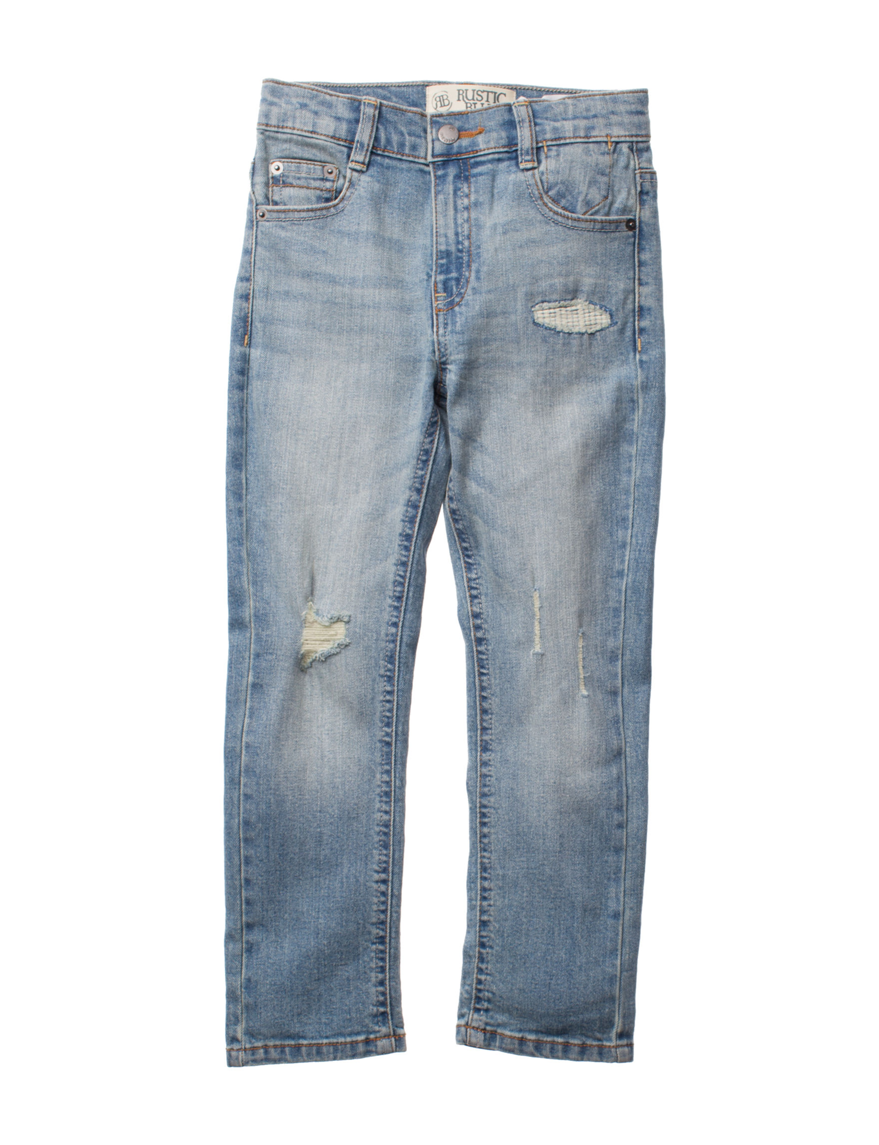 Rustic Blue Medium Wash Loose Relaxed Straight