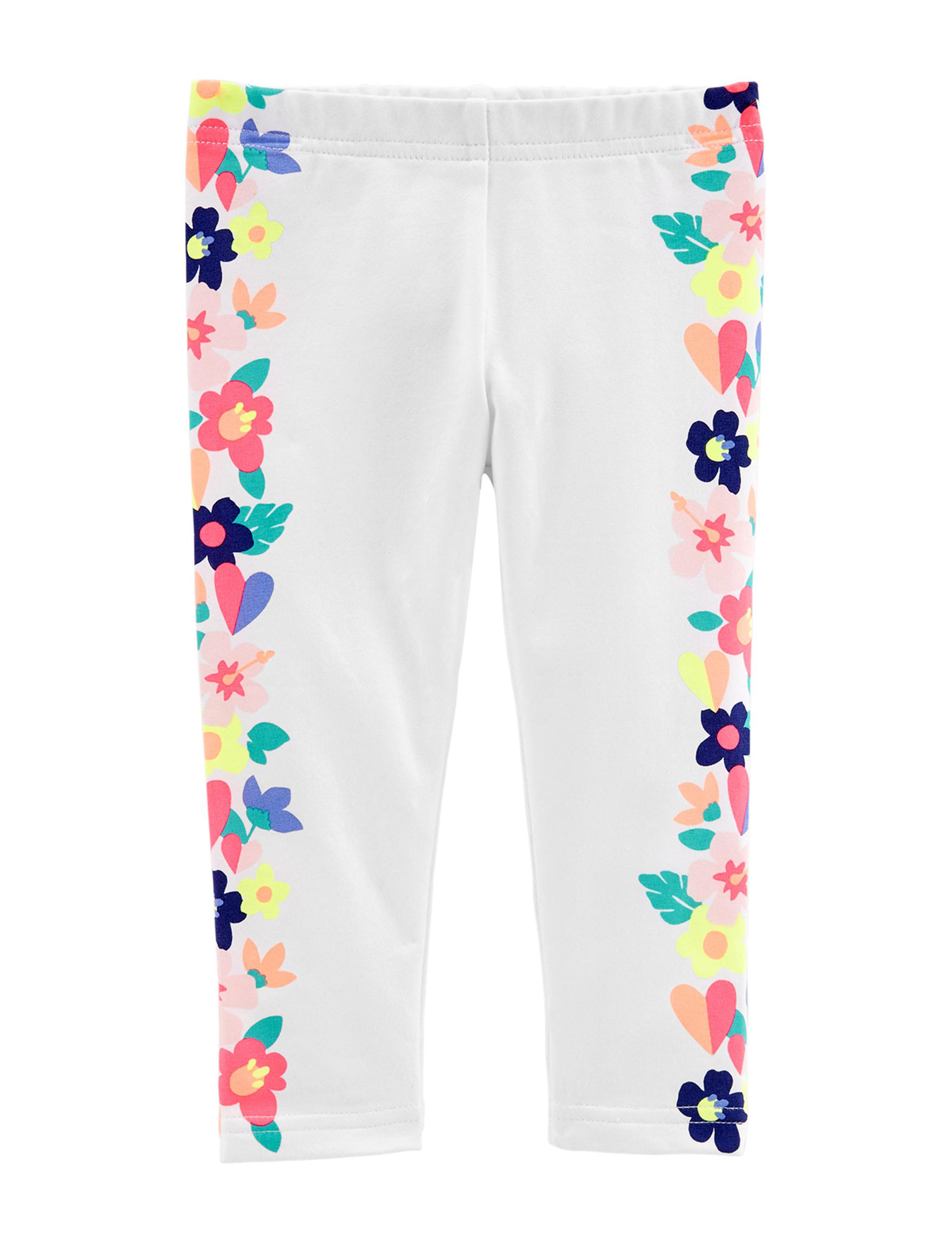 Carter's White Floral Leggings