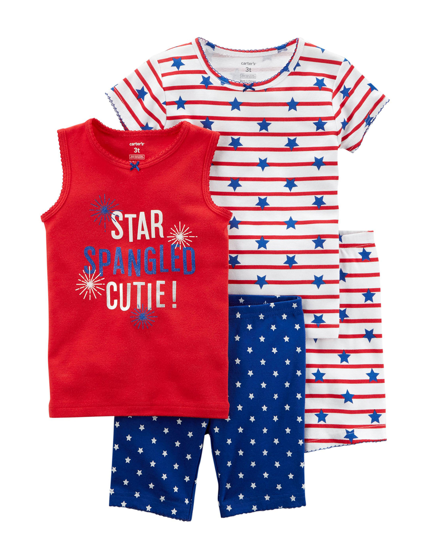 Carter's Red / White / Blue Pajama Sets