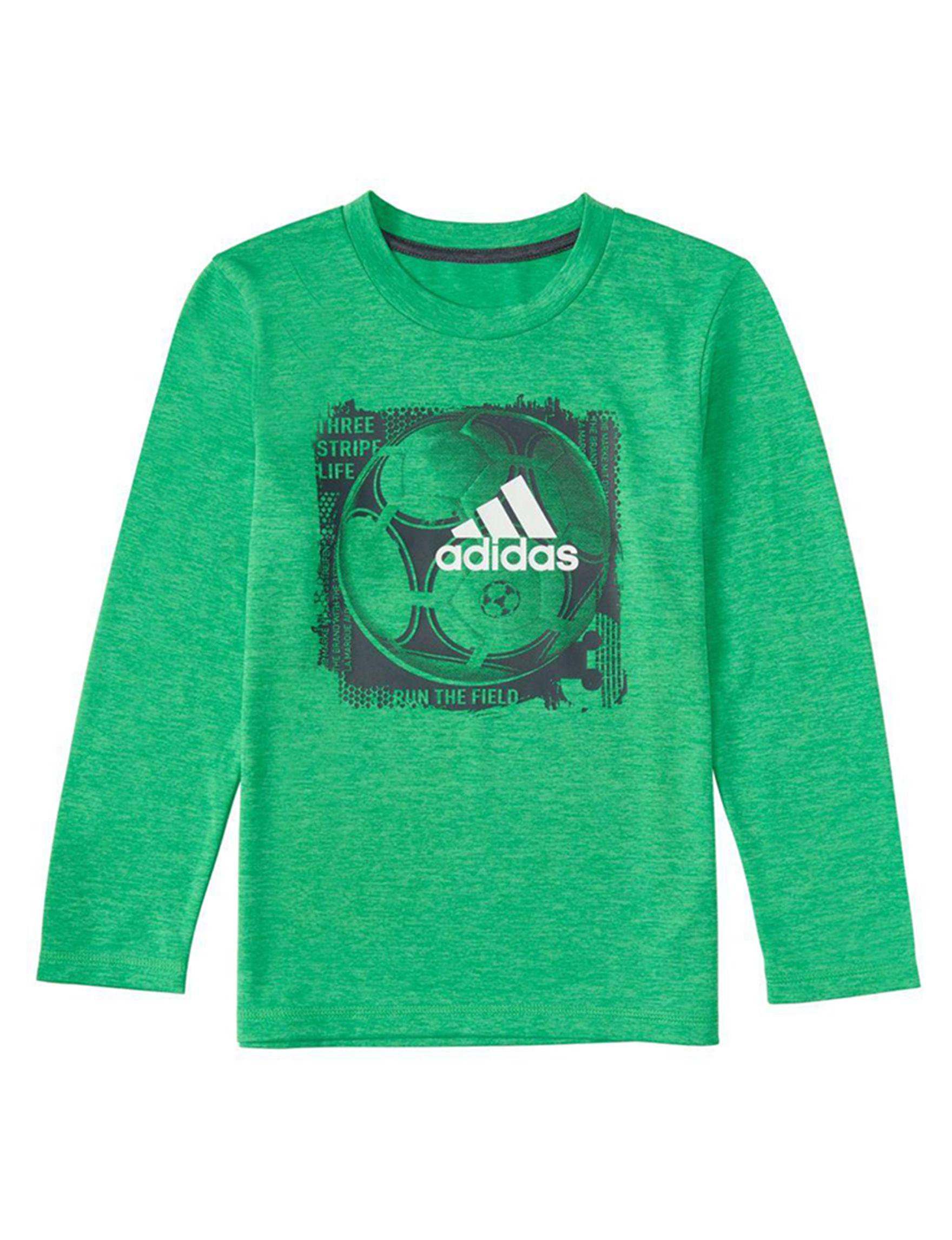 Adidas Green Tees & Tanks