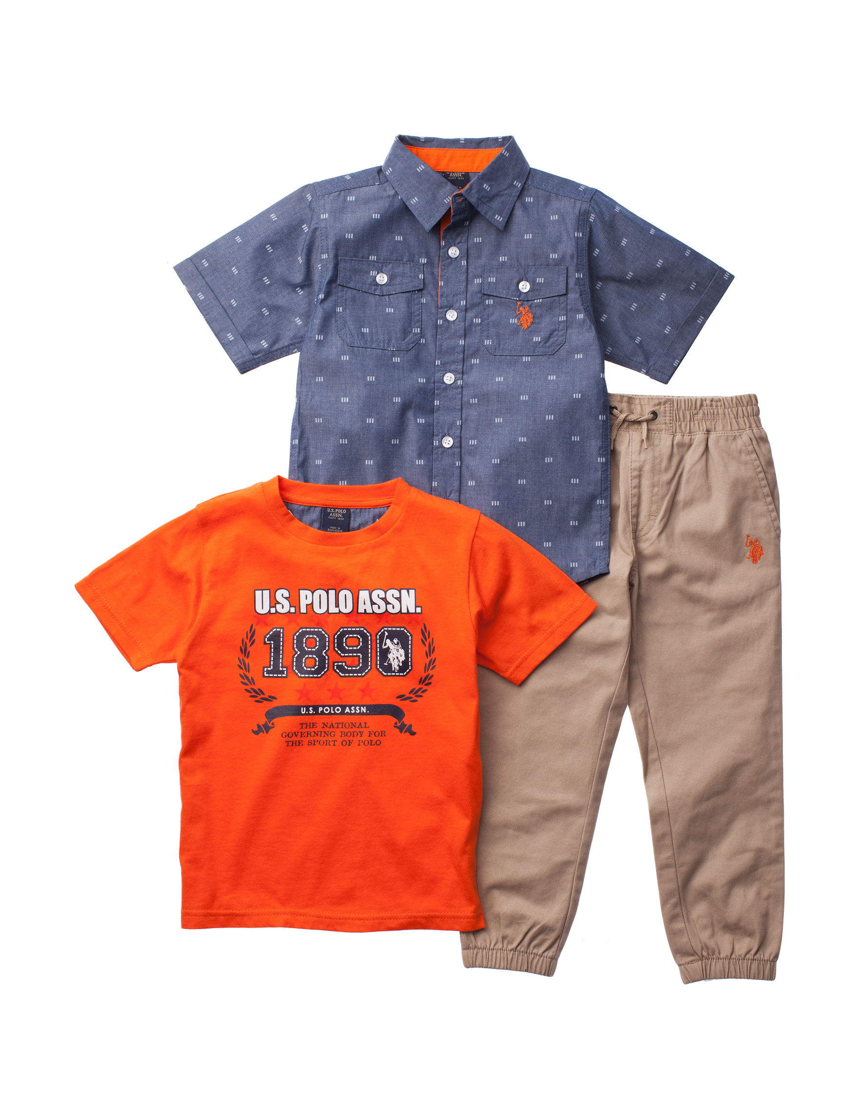 U.S. Polo Assn. Blue / Orange