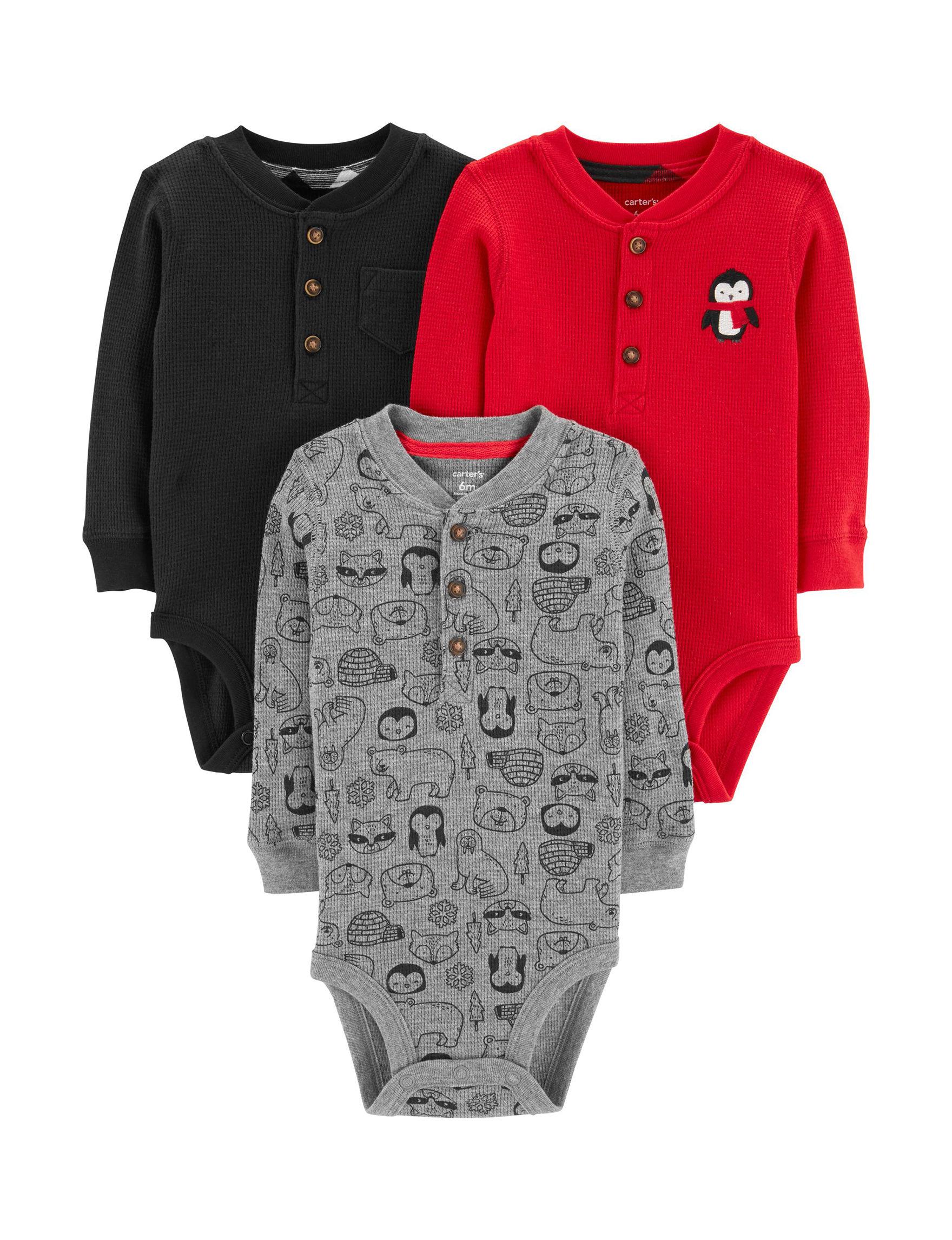 Carter's Black/Red/Grey