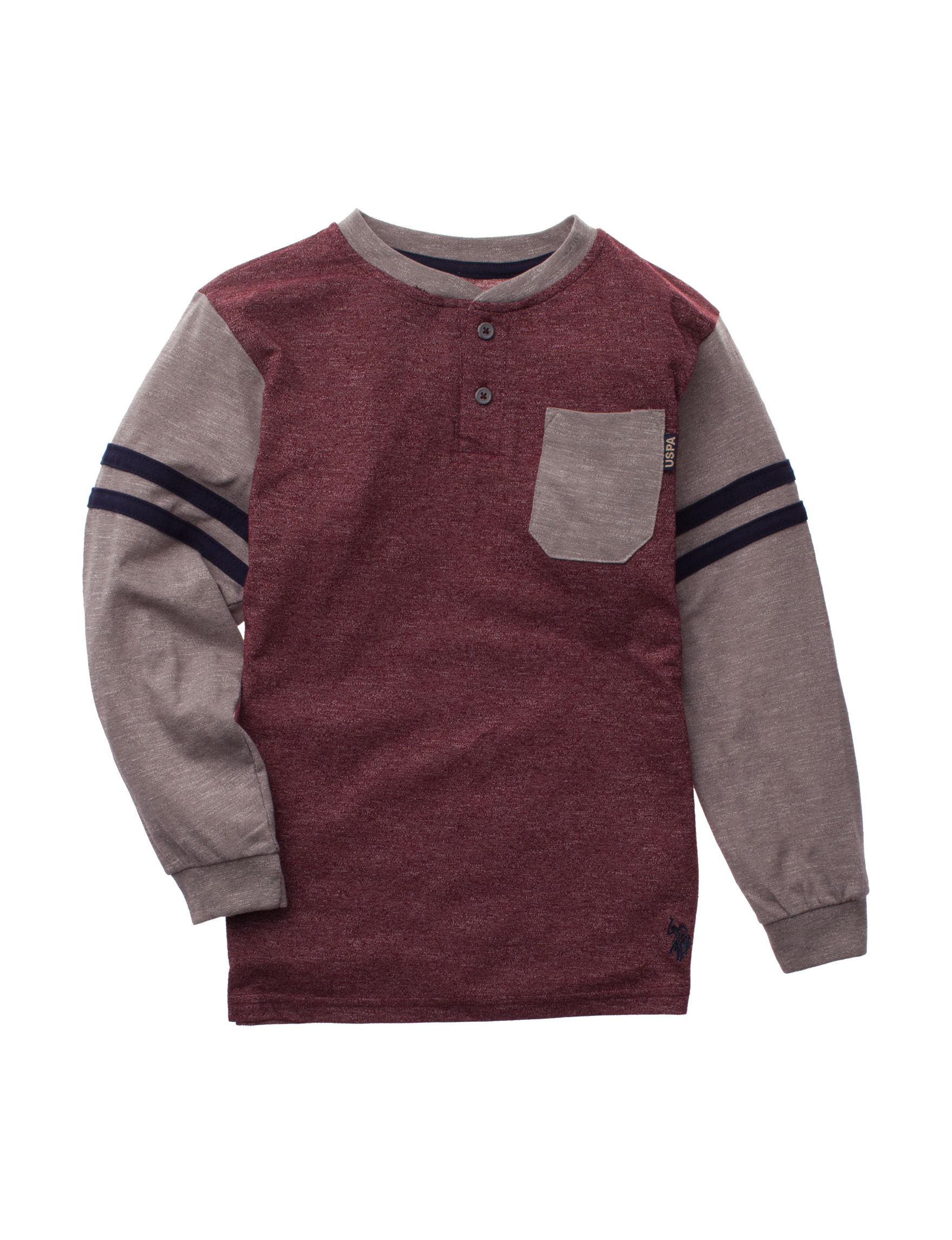 U.S. Polo Assn. Burgundy Heather Tees & Tanks