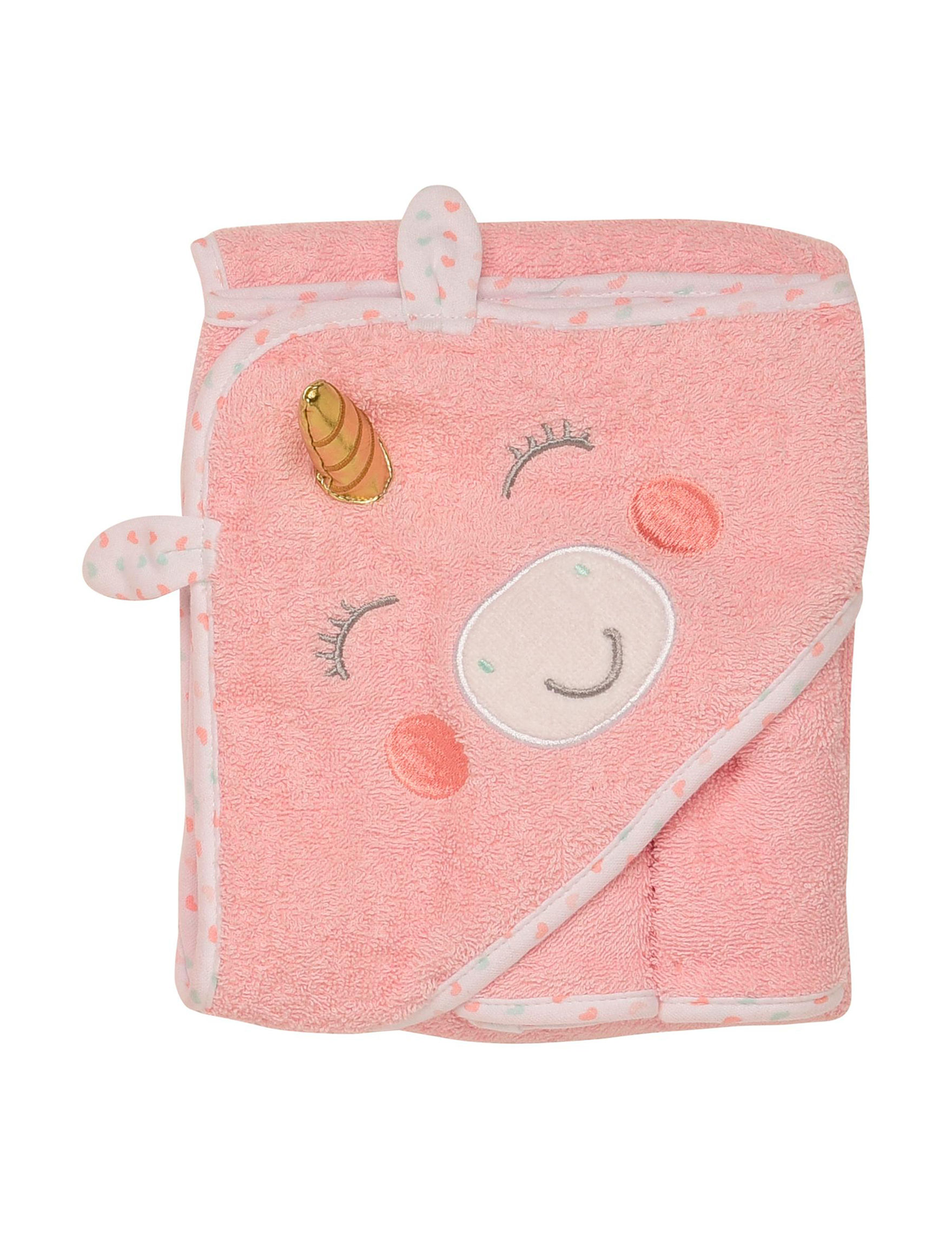 Baby Starters Pink Hooded Towels Washcloths