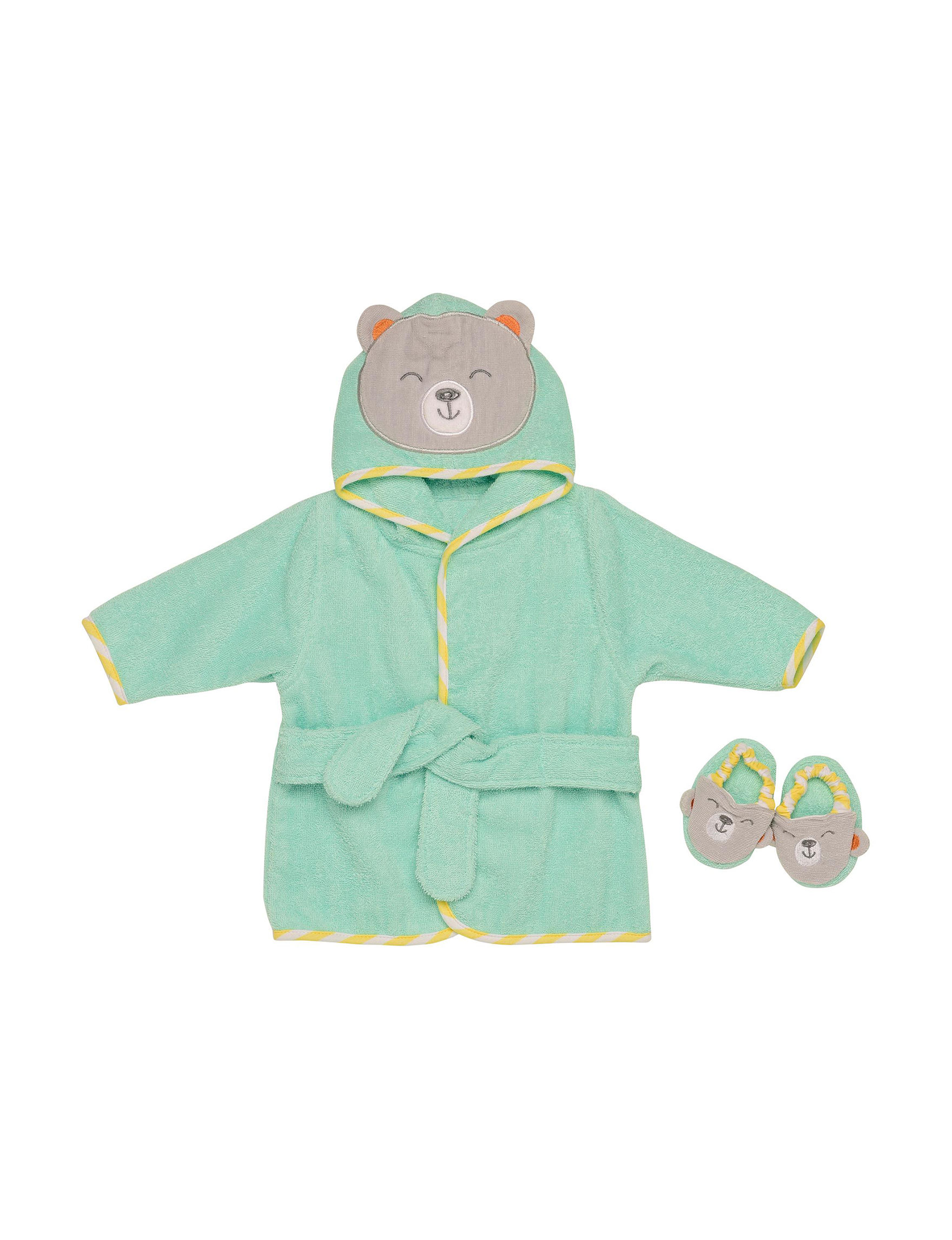 Baby Starters Light Green Baby Robes Hooded Towels