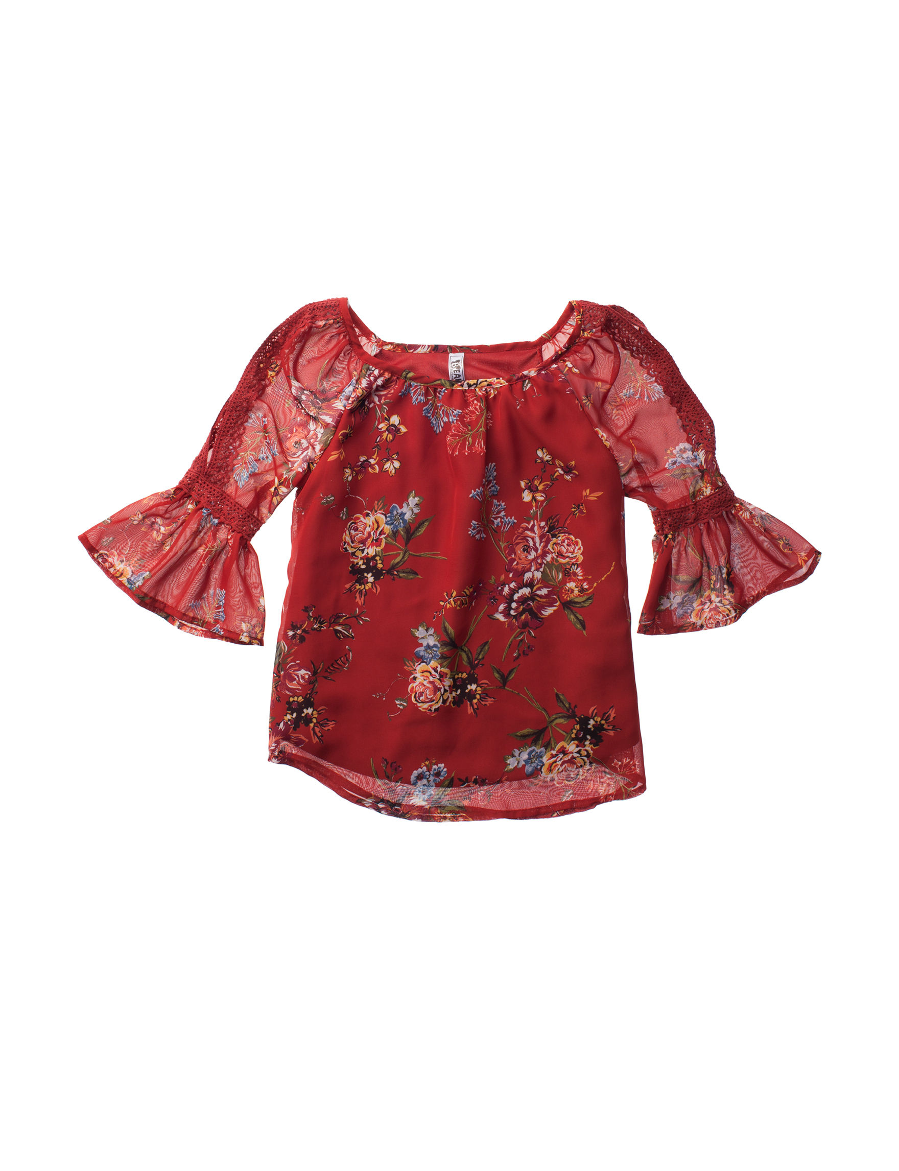 Beautees Red Floral