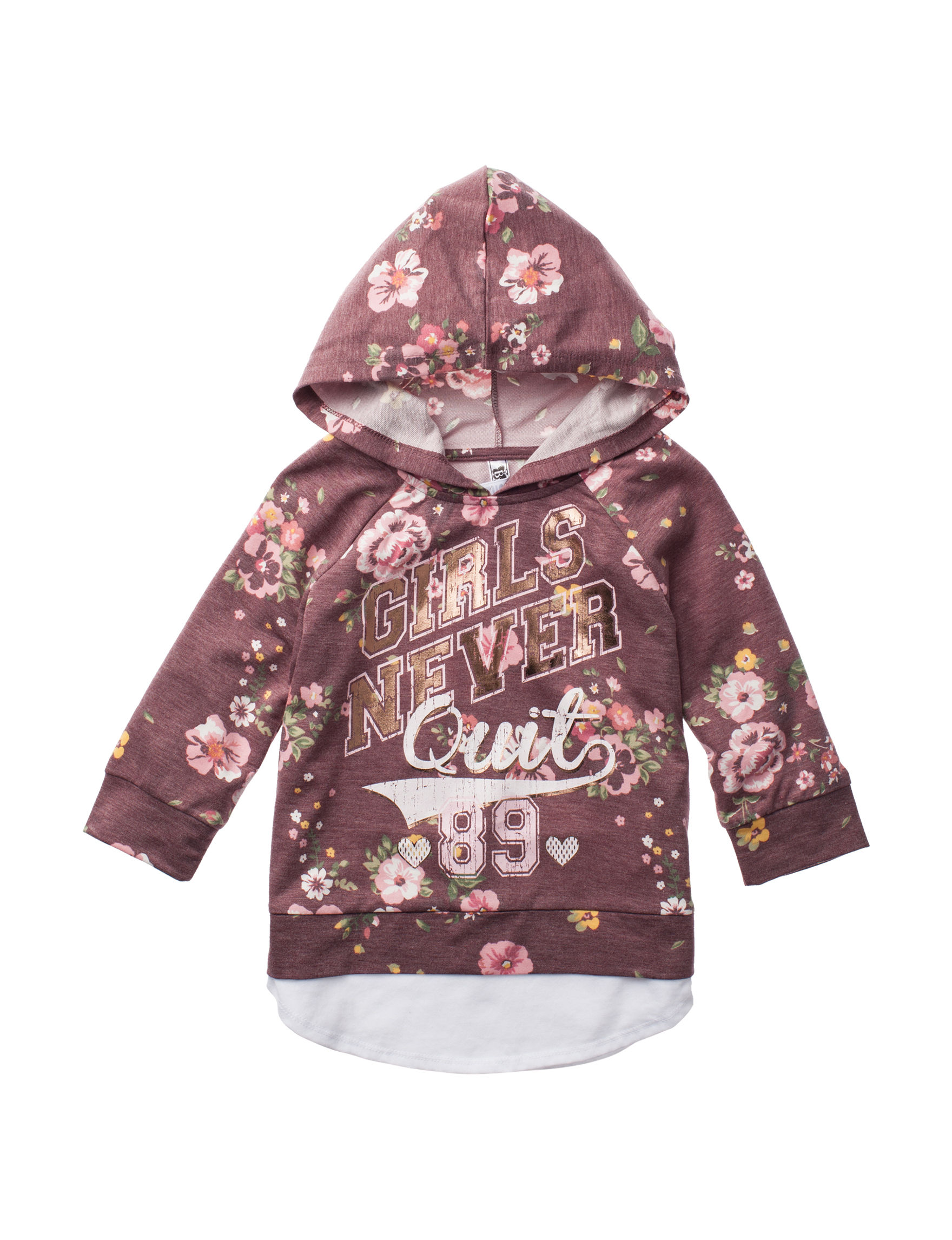Beautees Burgundy Floral