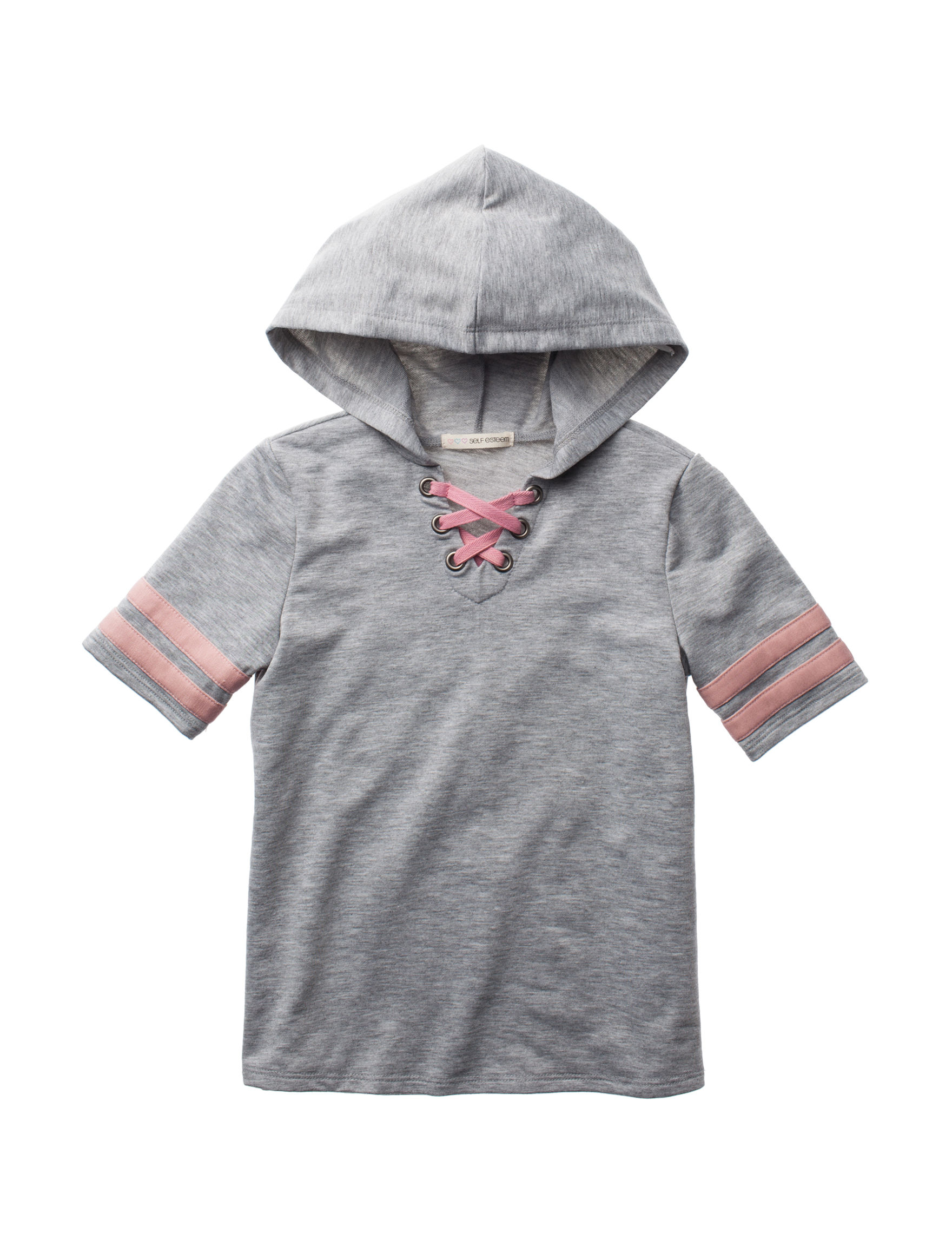 Self Esteem Heather Grey Pull-overs