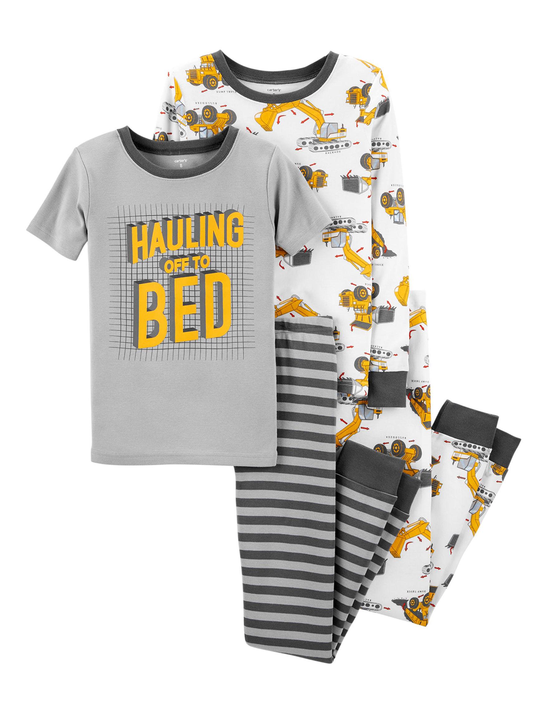 Carter's Grey/ Yellow Pajama Sets