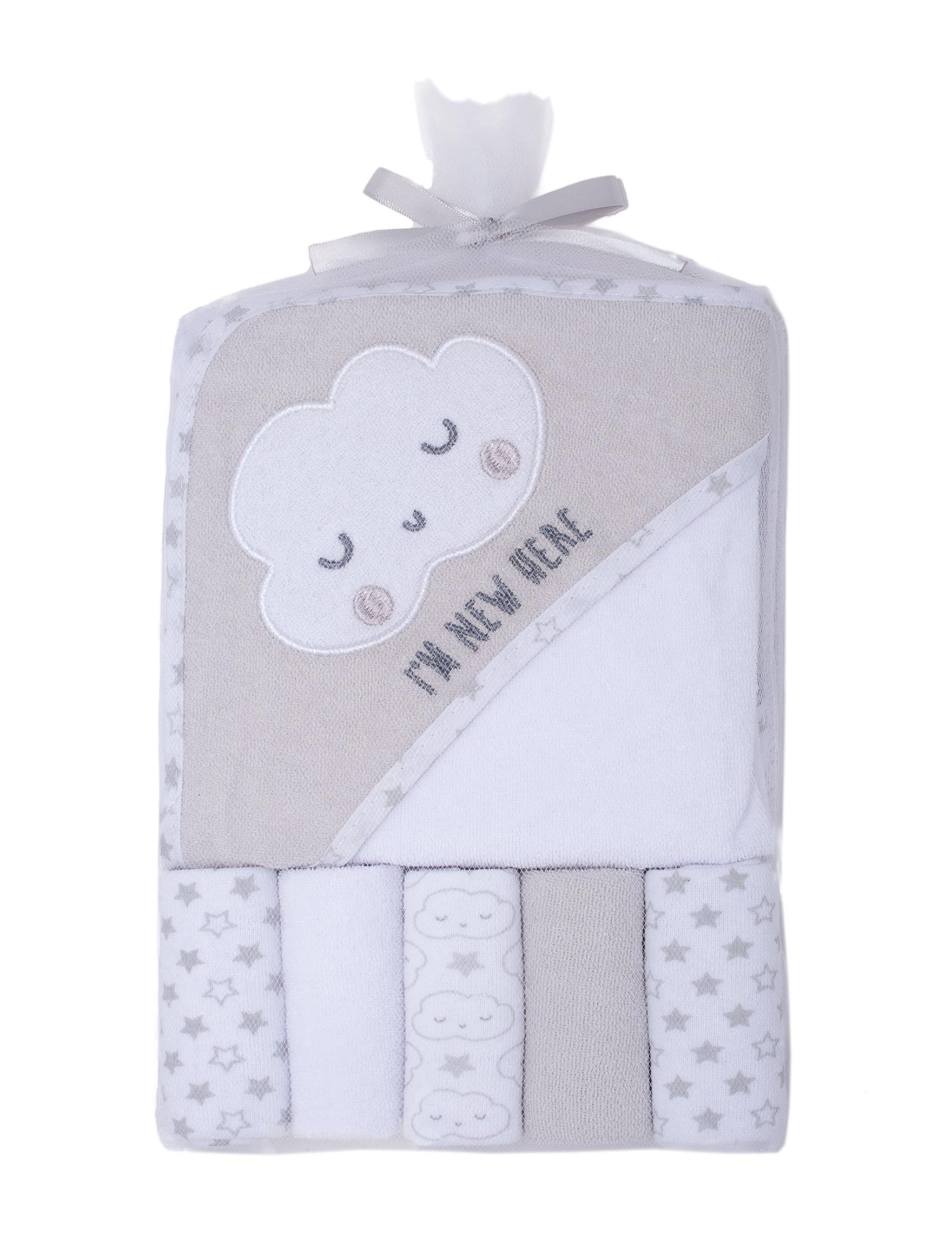 Baby Gear Grey Hooded Towels Washcloths