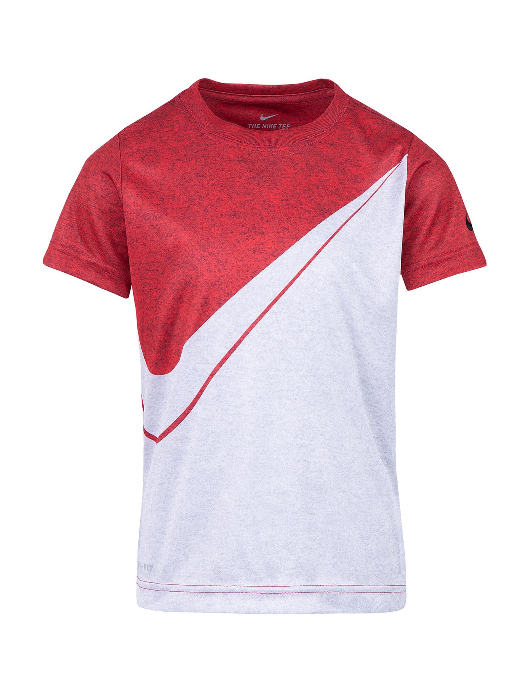 Nike Red / White Tees & Tanks