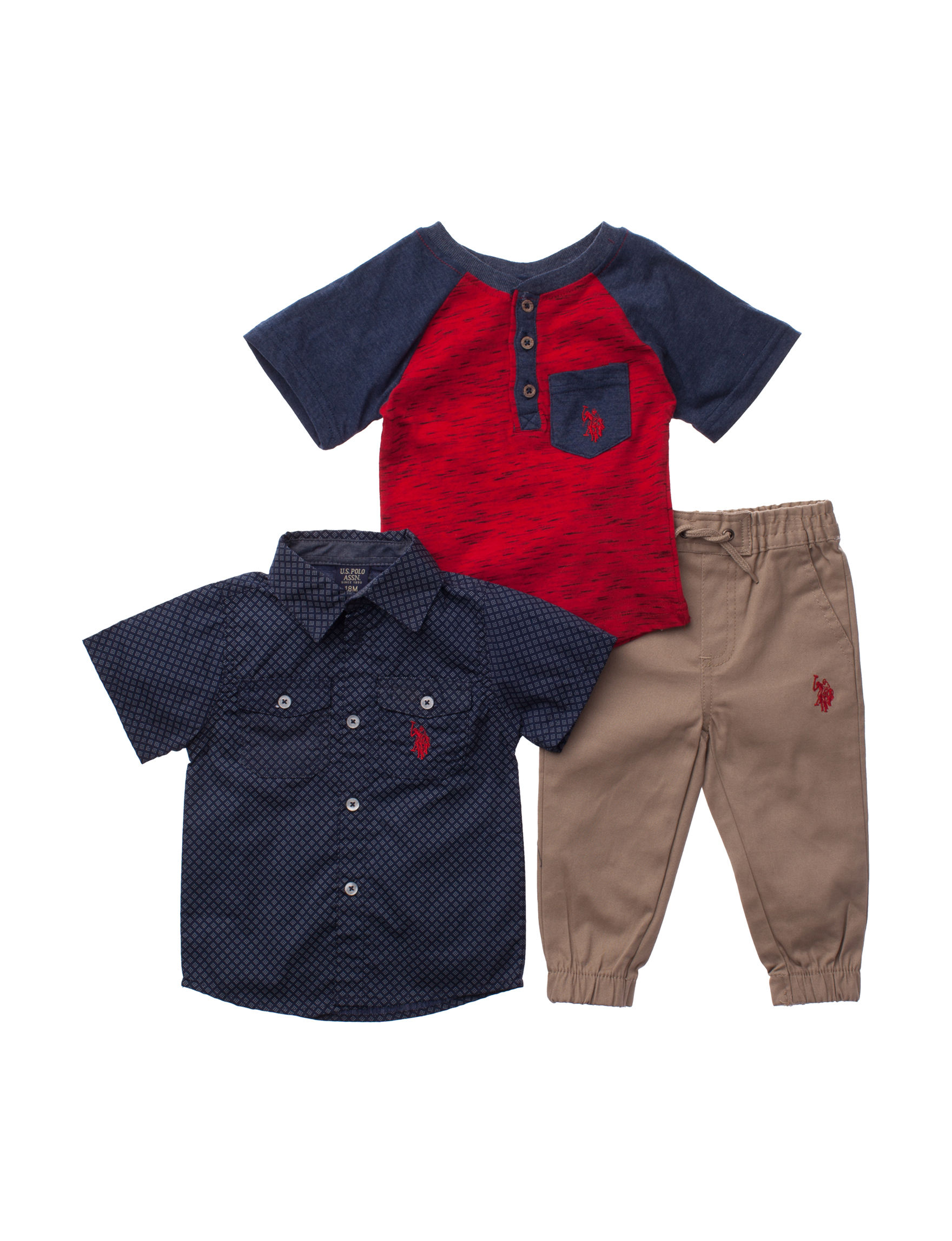 U.S. Polo Assn. Blue Multi