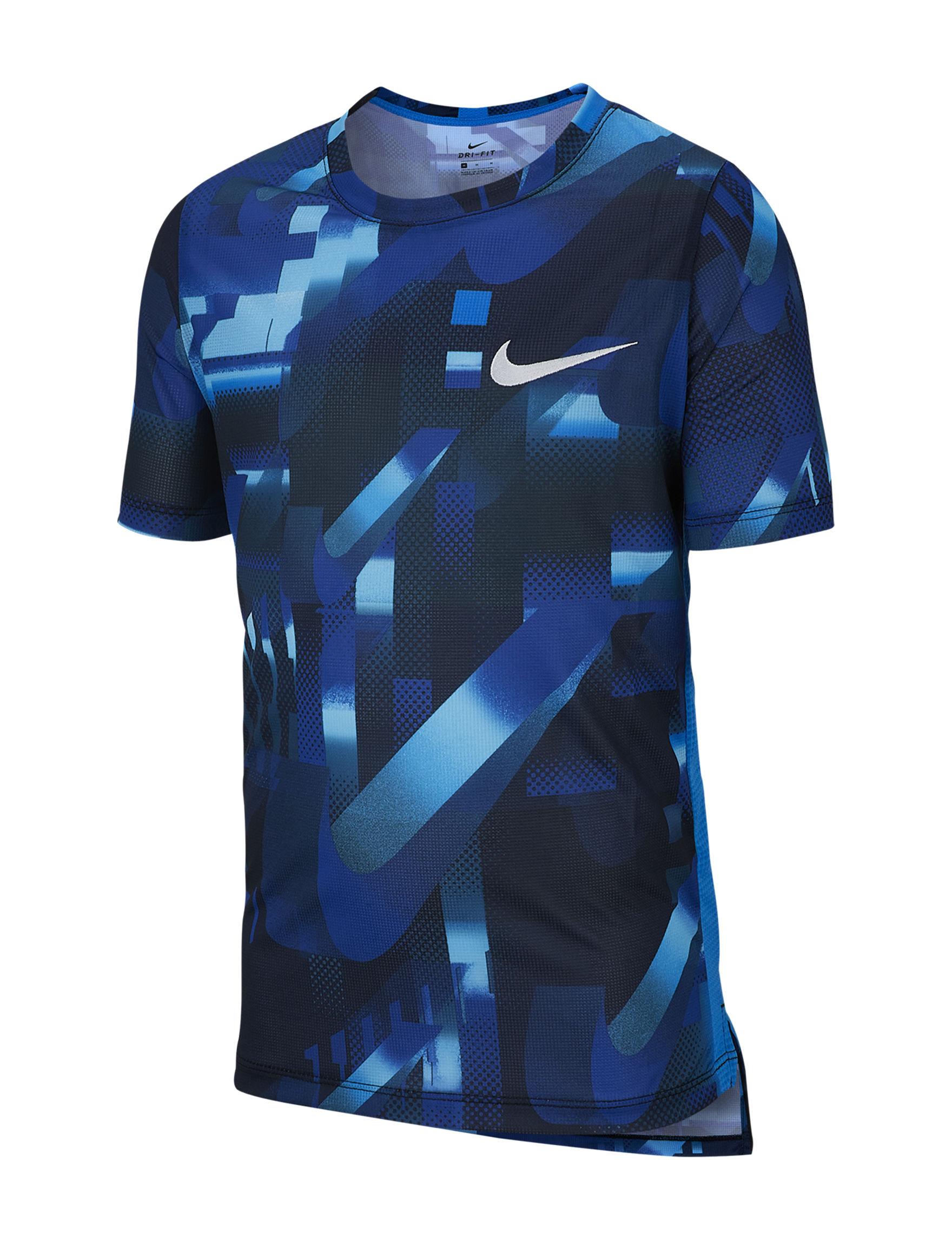 Nike Blue Multi Tees & Tanks