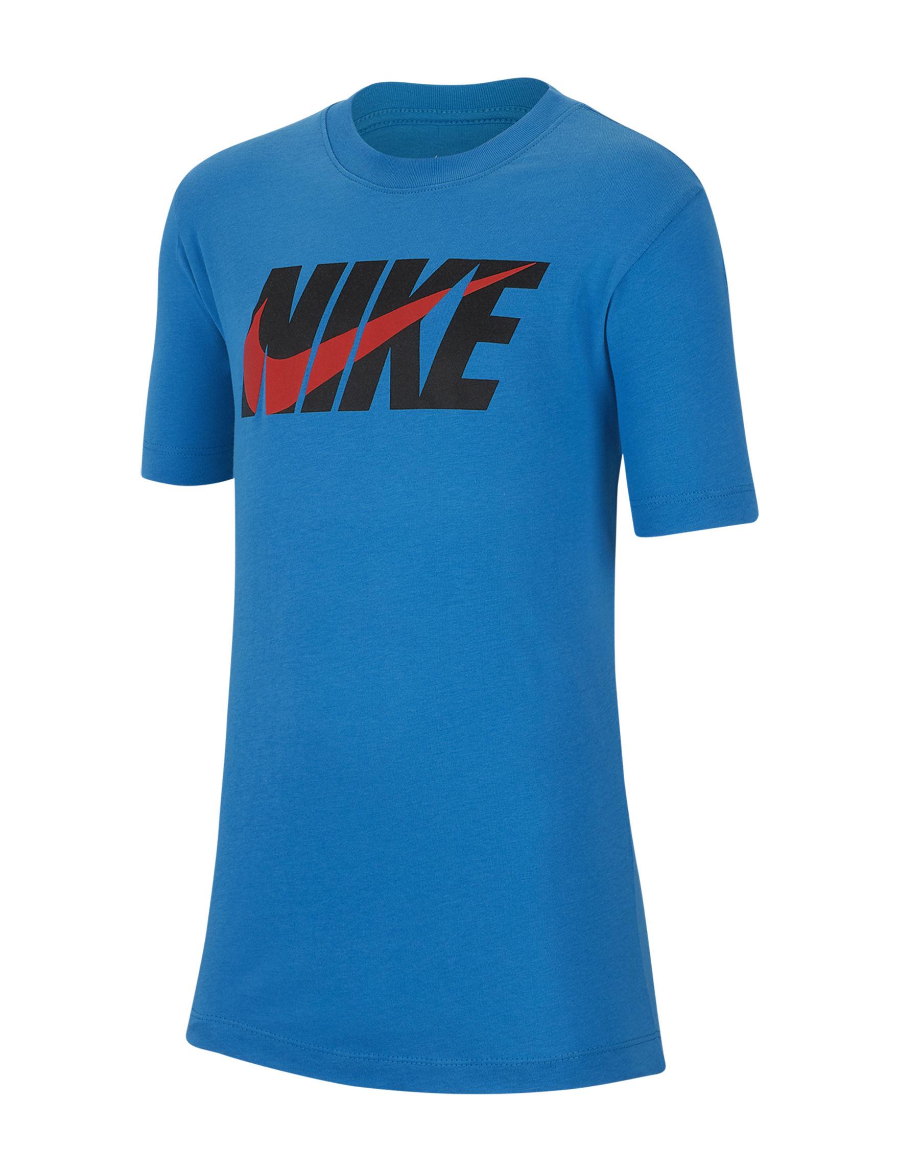 Nike Blue Tees & Tanks