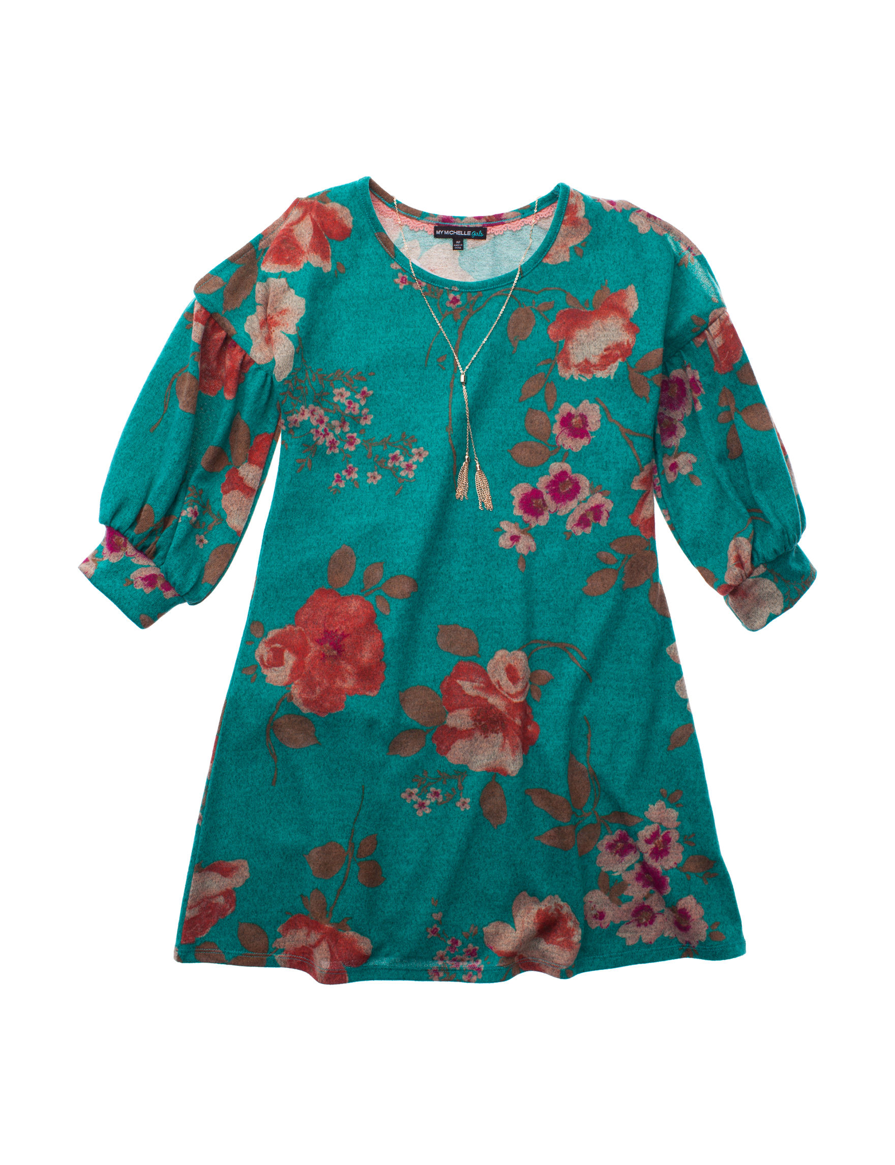 My Michelle Teal Floral