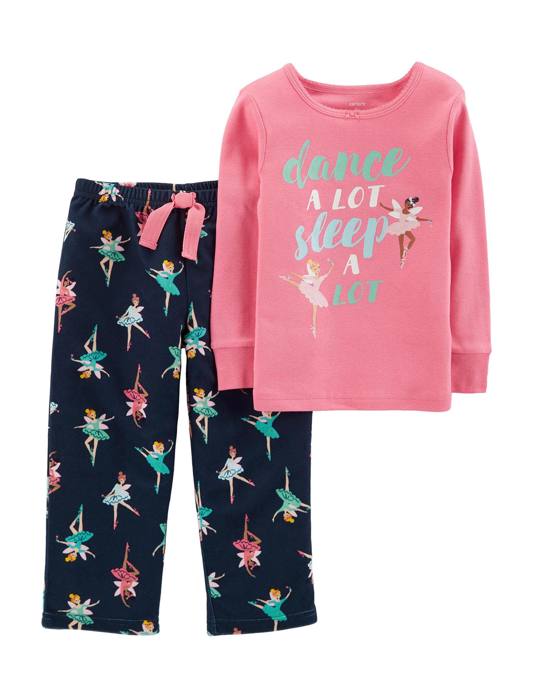 Carter's Pink / Navy Pajama Sets