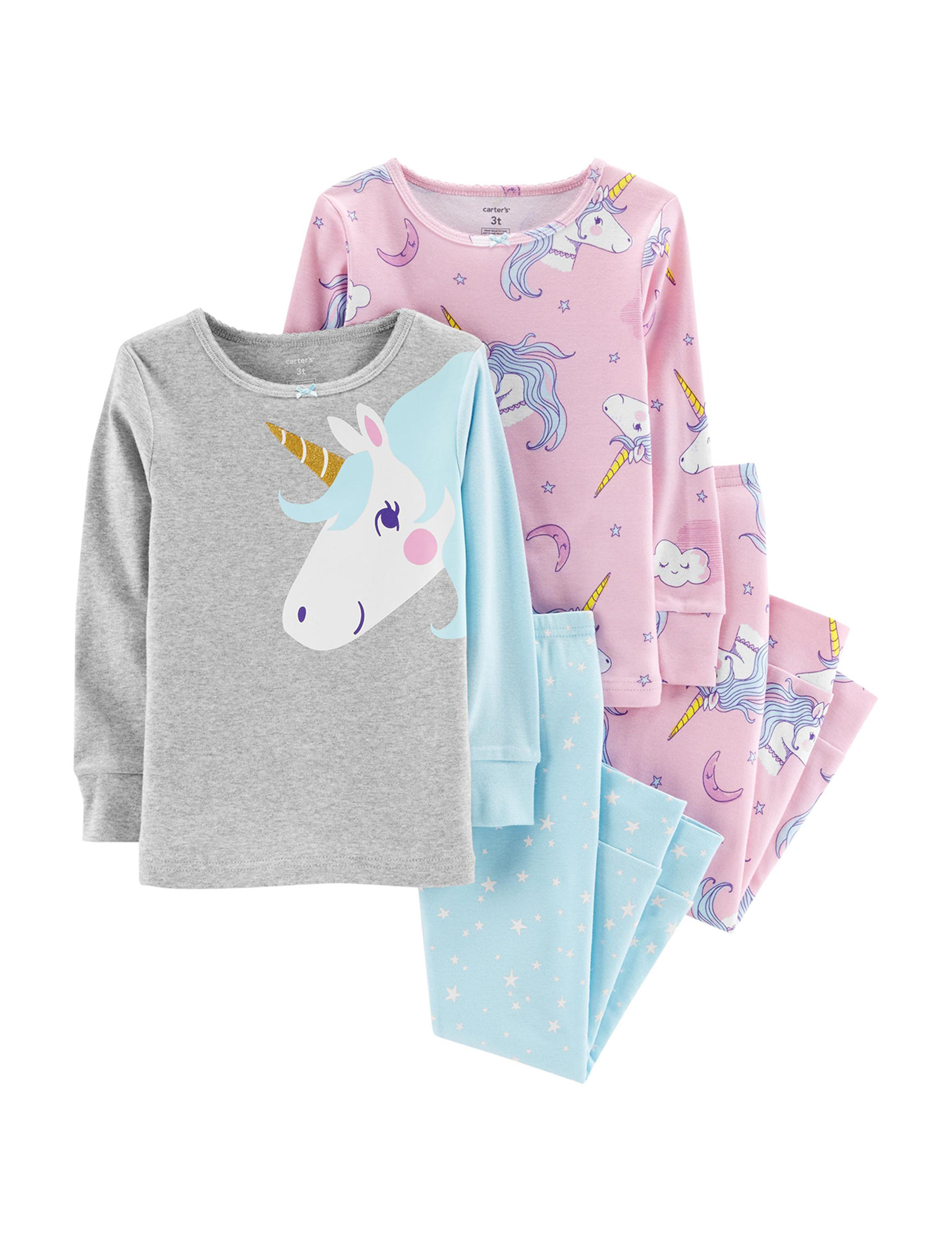 Carter's Blue / Pink Pajama Sets