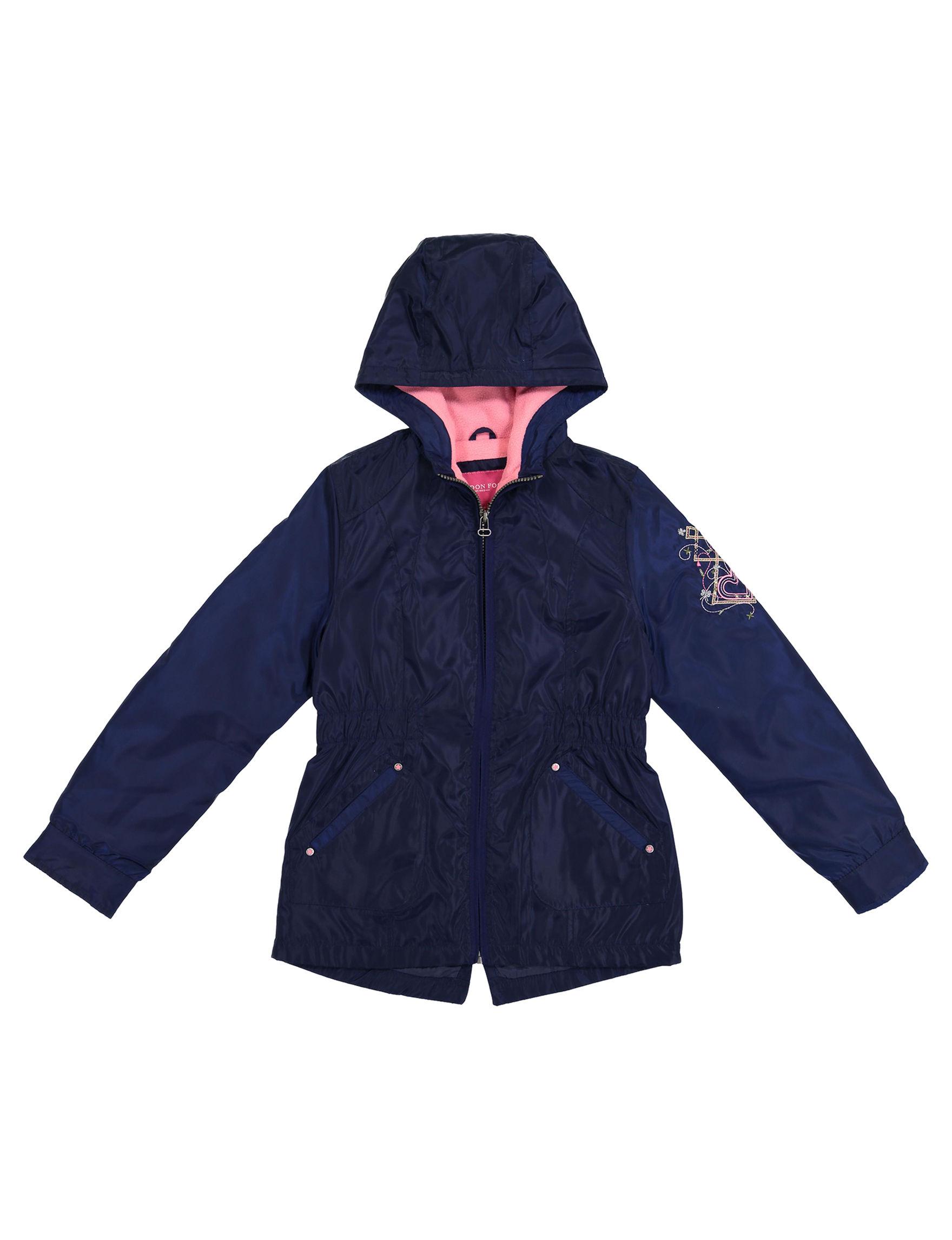 London Fog Navy Fleece & Soft Shell Jackets