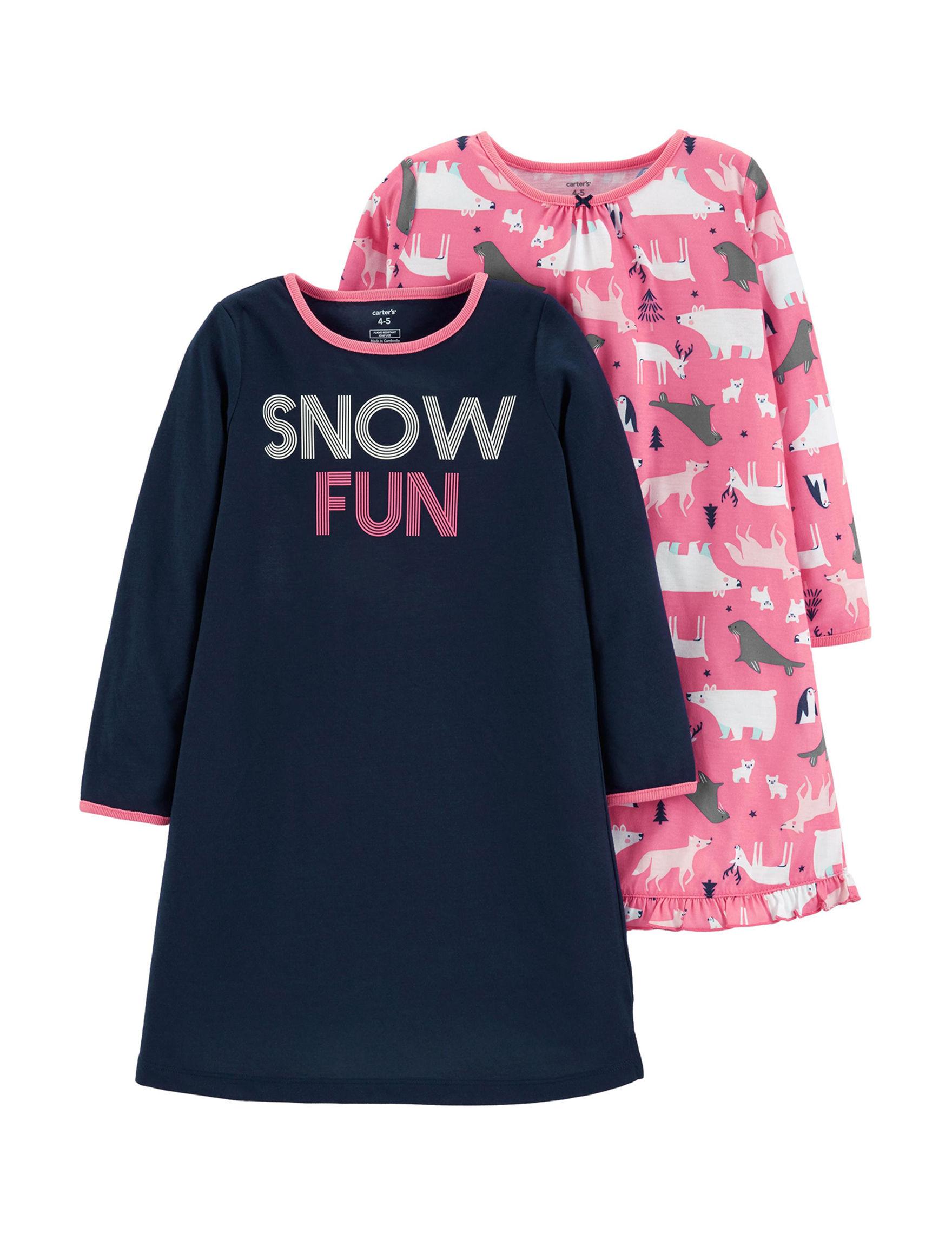 Carter's Black / Pink Nightgowns & Sleep Shirts