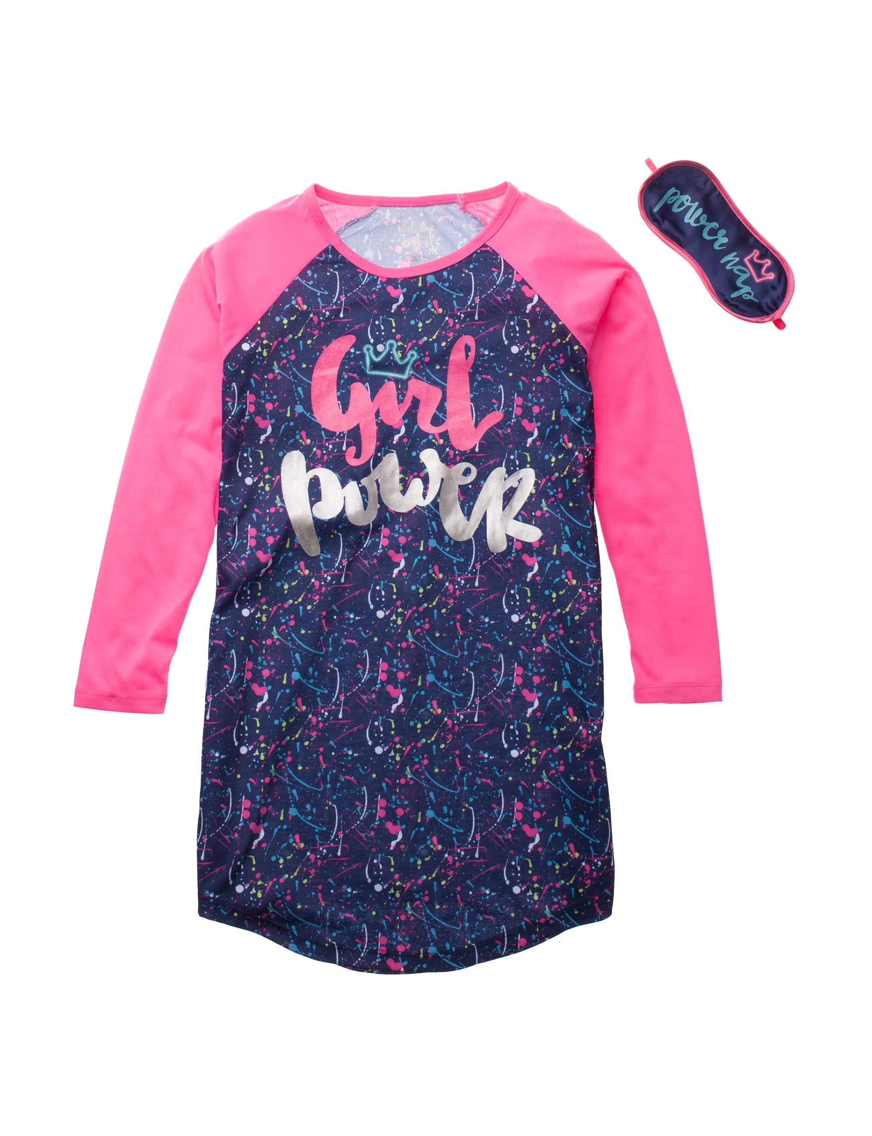 Cloud Nine Navy / Pink Nightgowns & Sleep Shirts