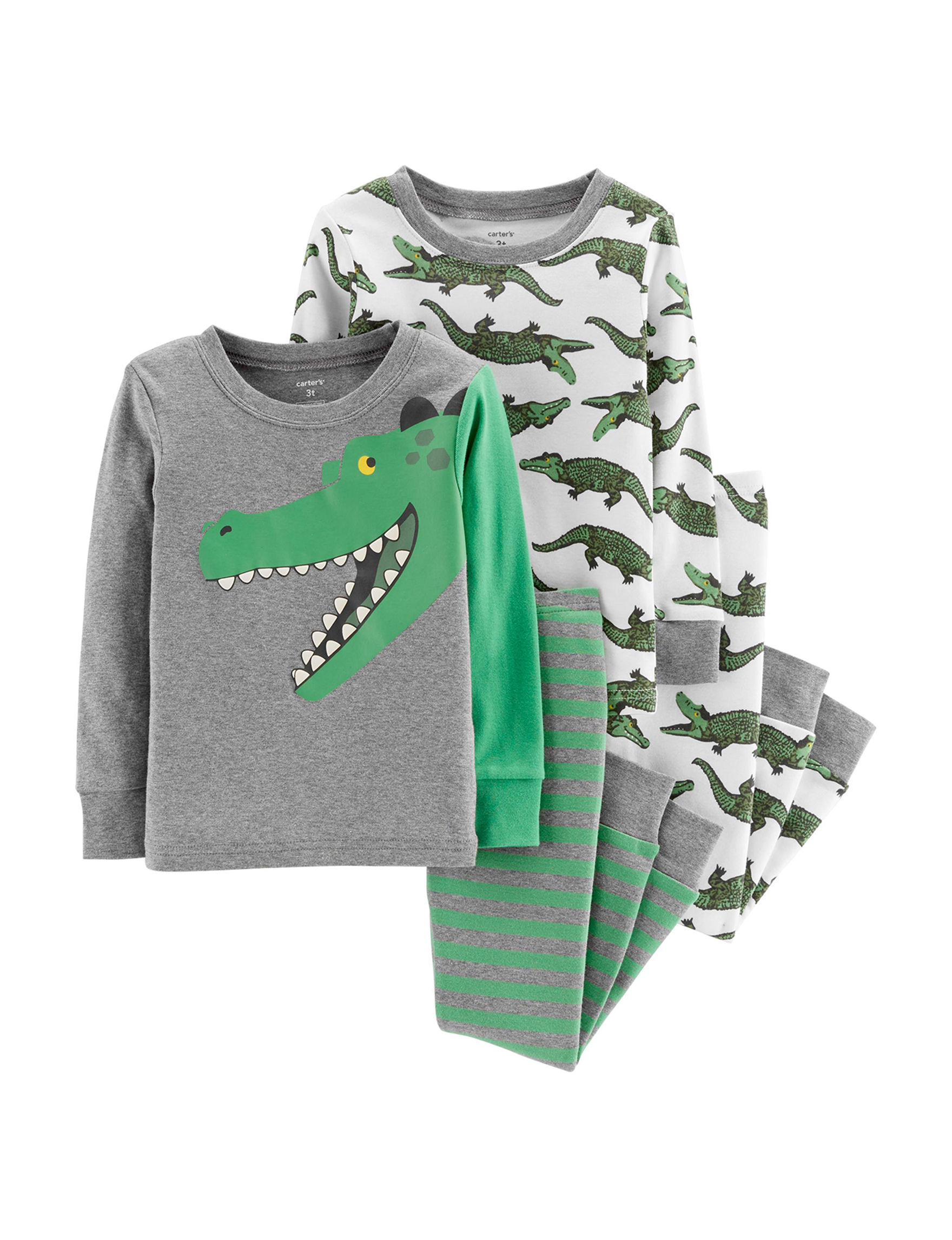 Carter's Green / Grey Pajama Sets