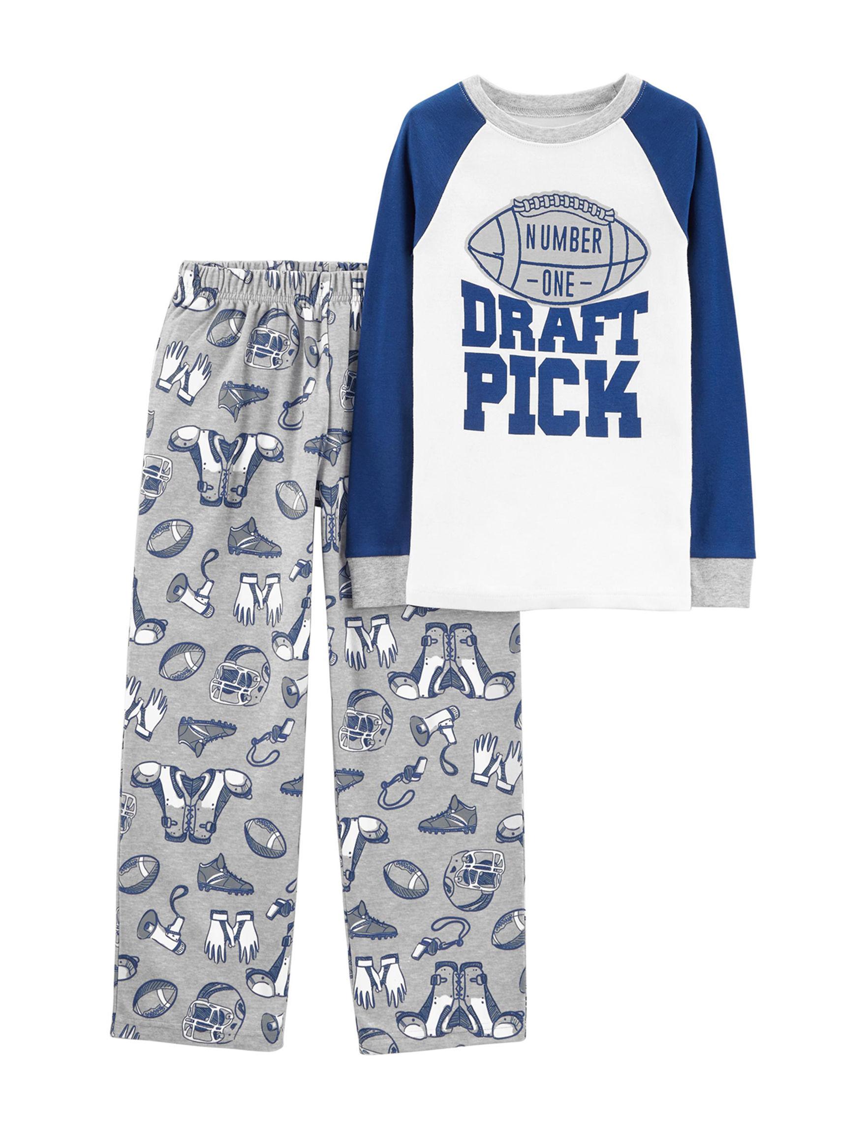 Carter's Grey / Blue Pajama Sets