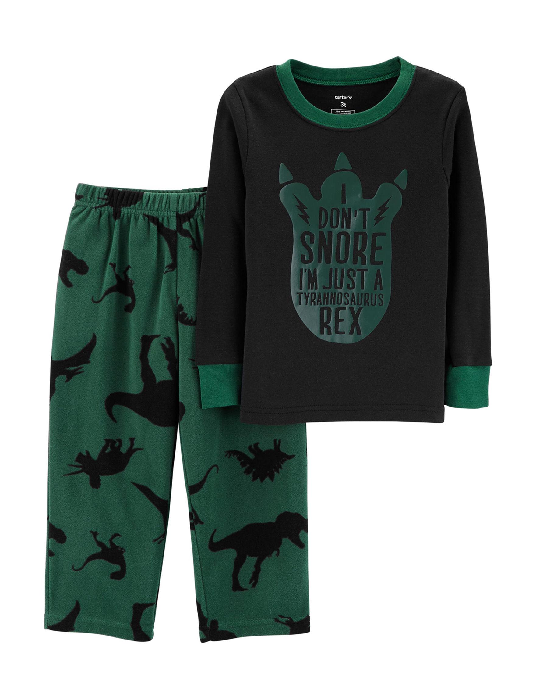Carter's Black / Green Pajama Sets