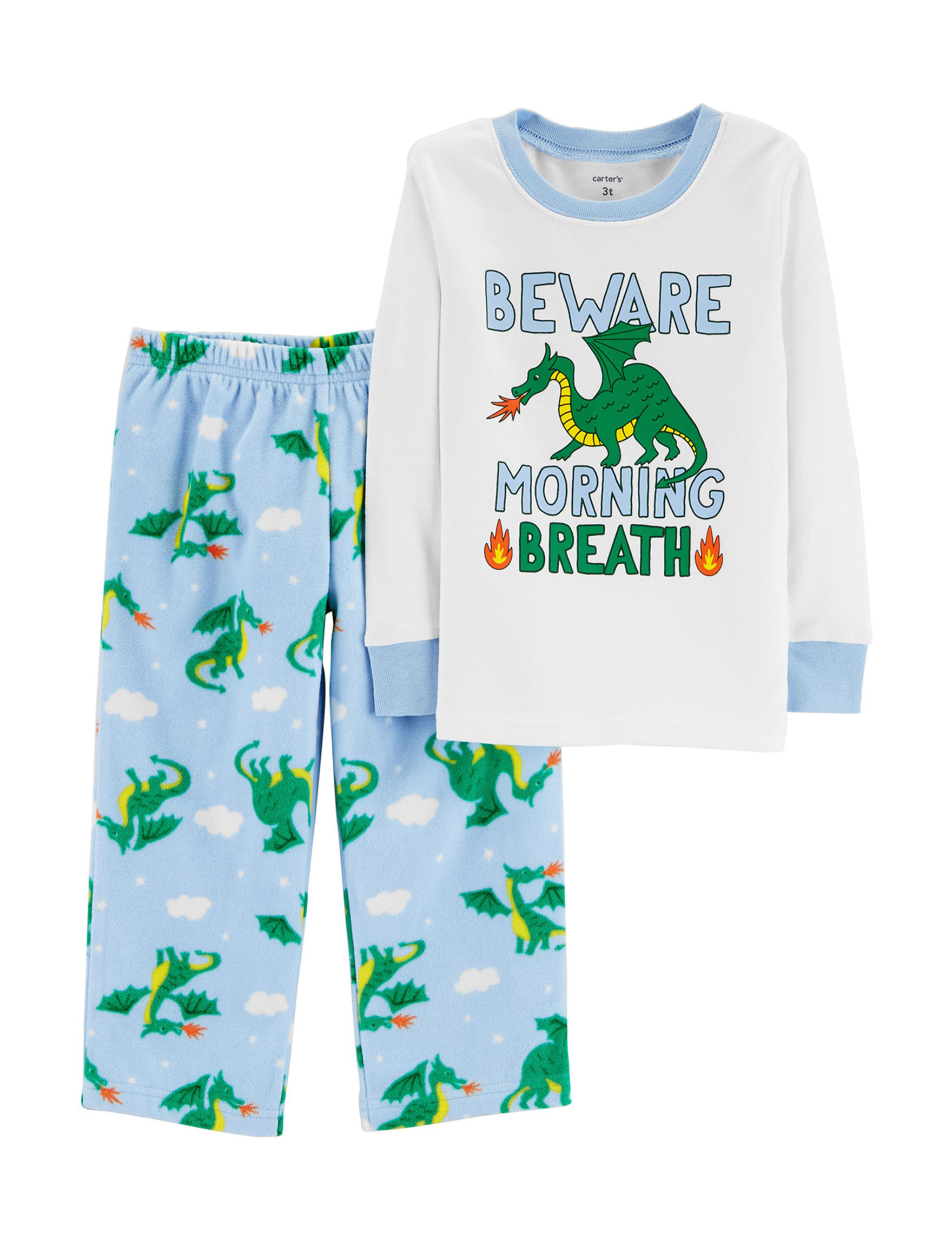 Carter's White / Blue Pajama Sets