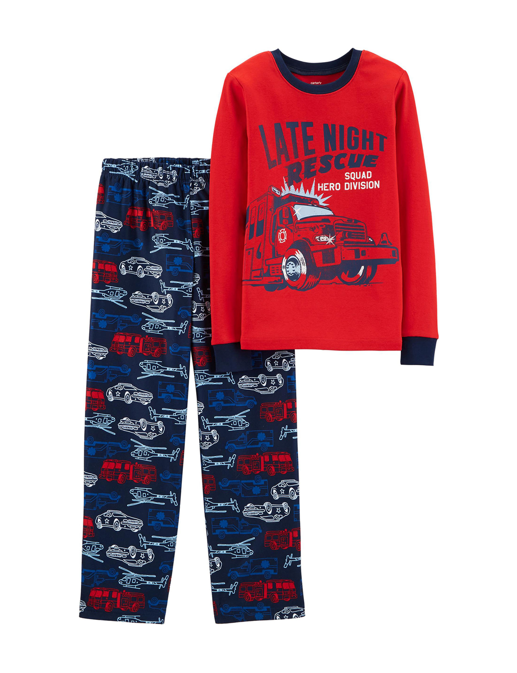 Carter's Red / Navy Pajama Sets