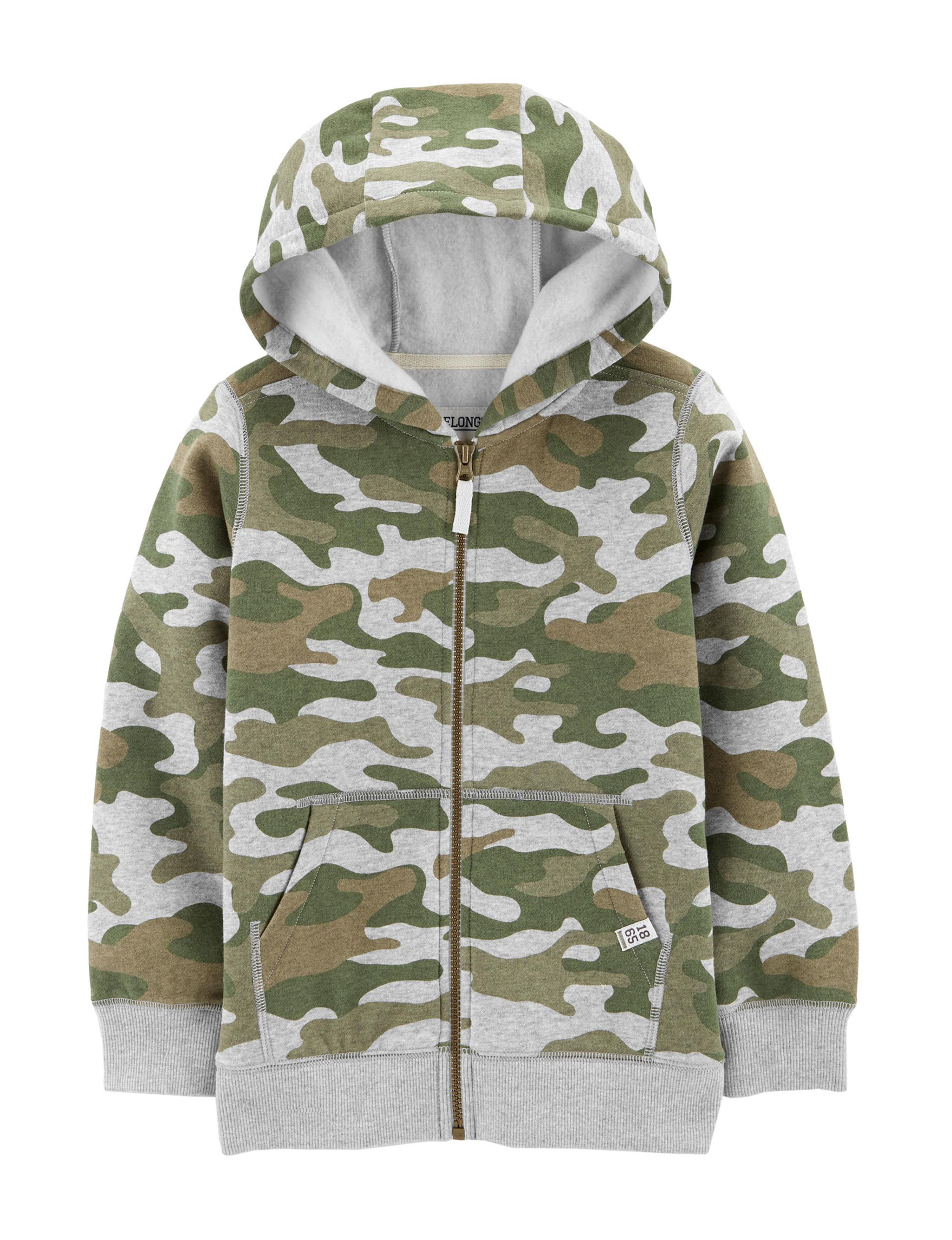 Carter's Green Camo Fleece & Soft Shell Jackets