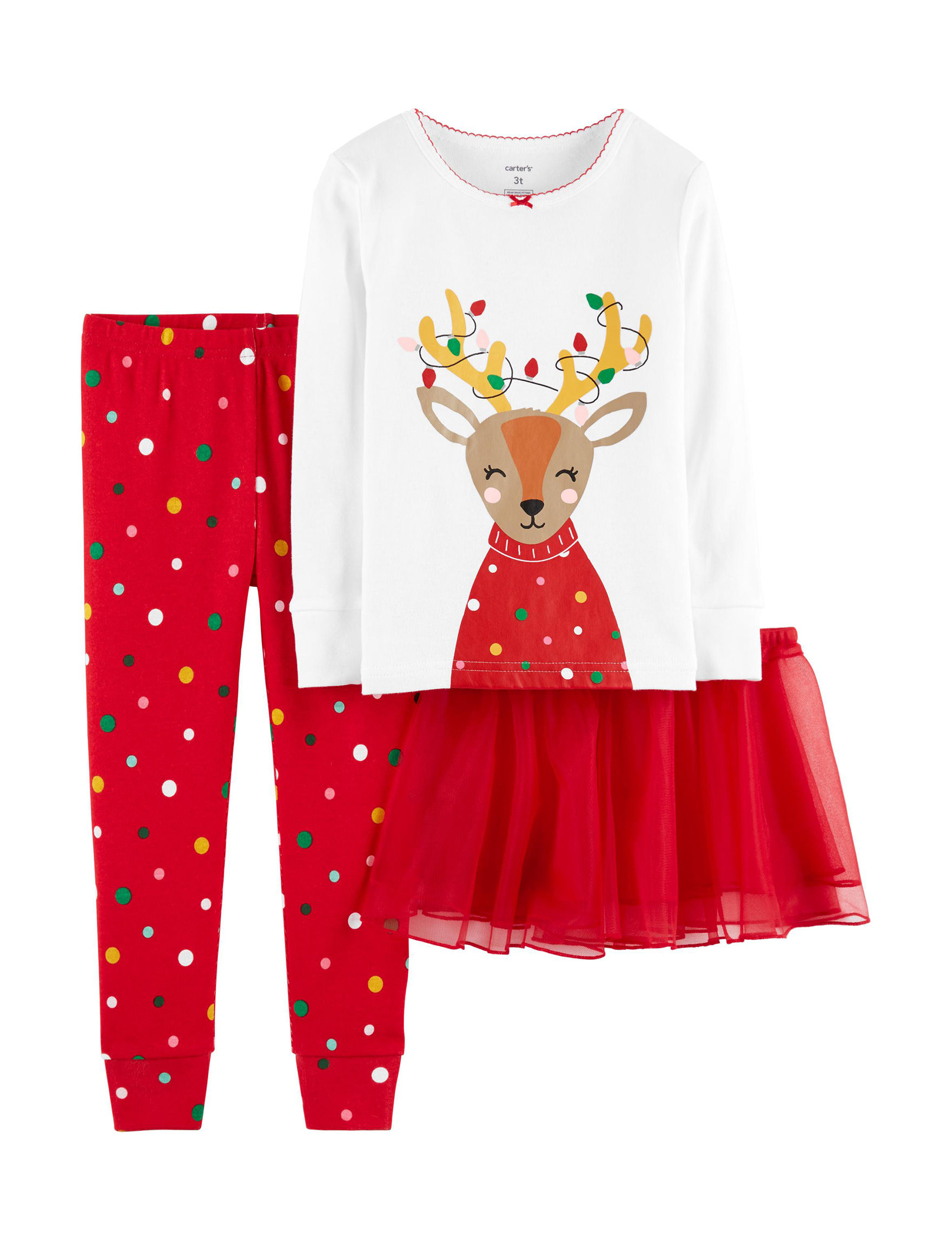 Carter's Red / White Pajama Sets