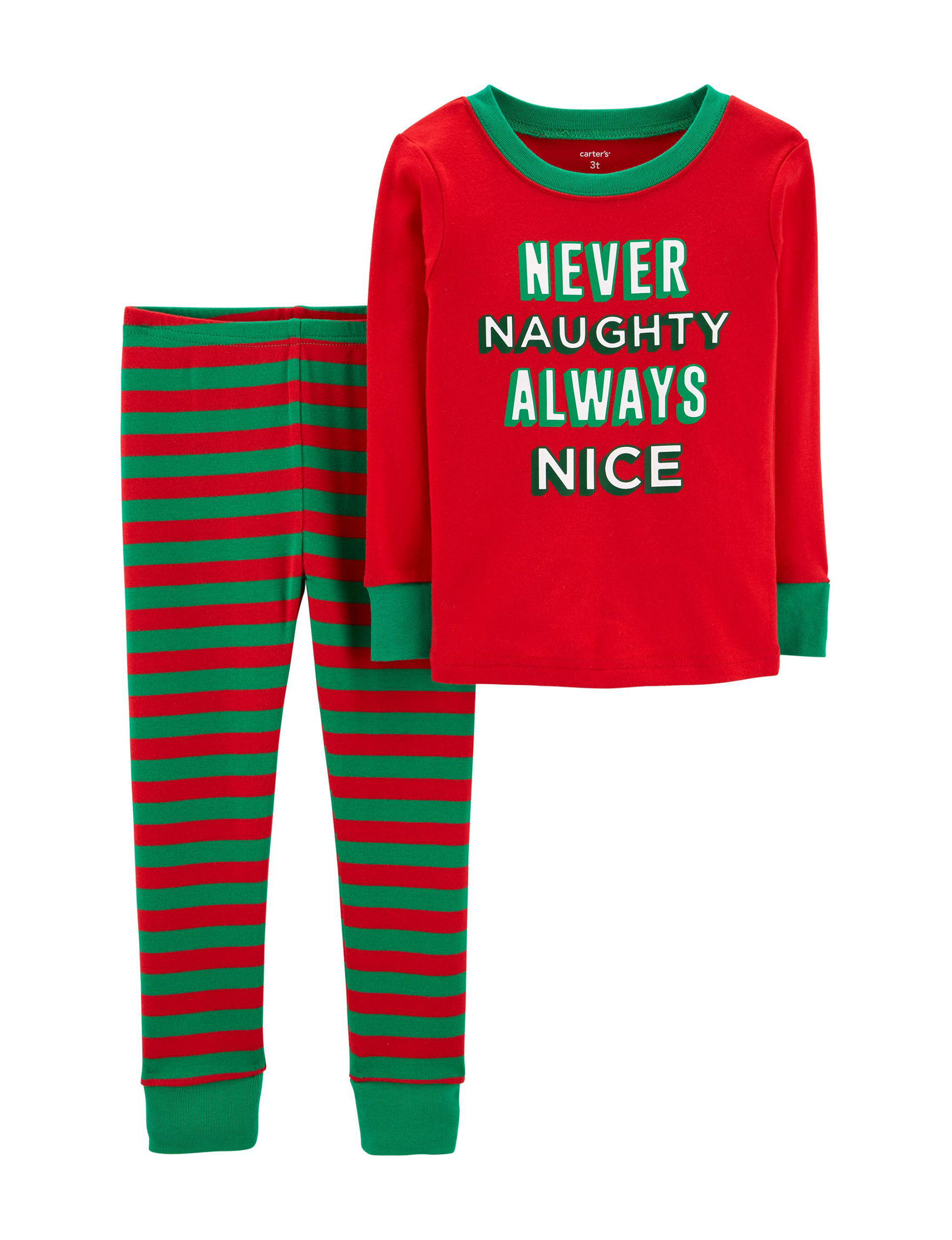 Carter's Red Stripe Pajama Sets