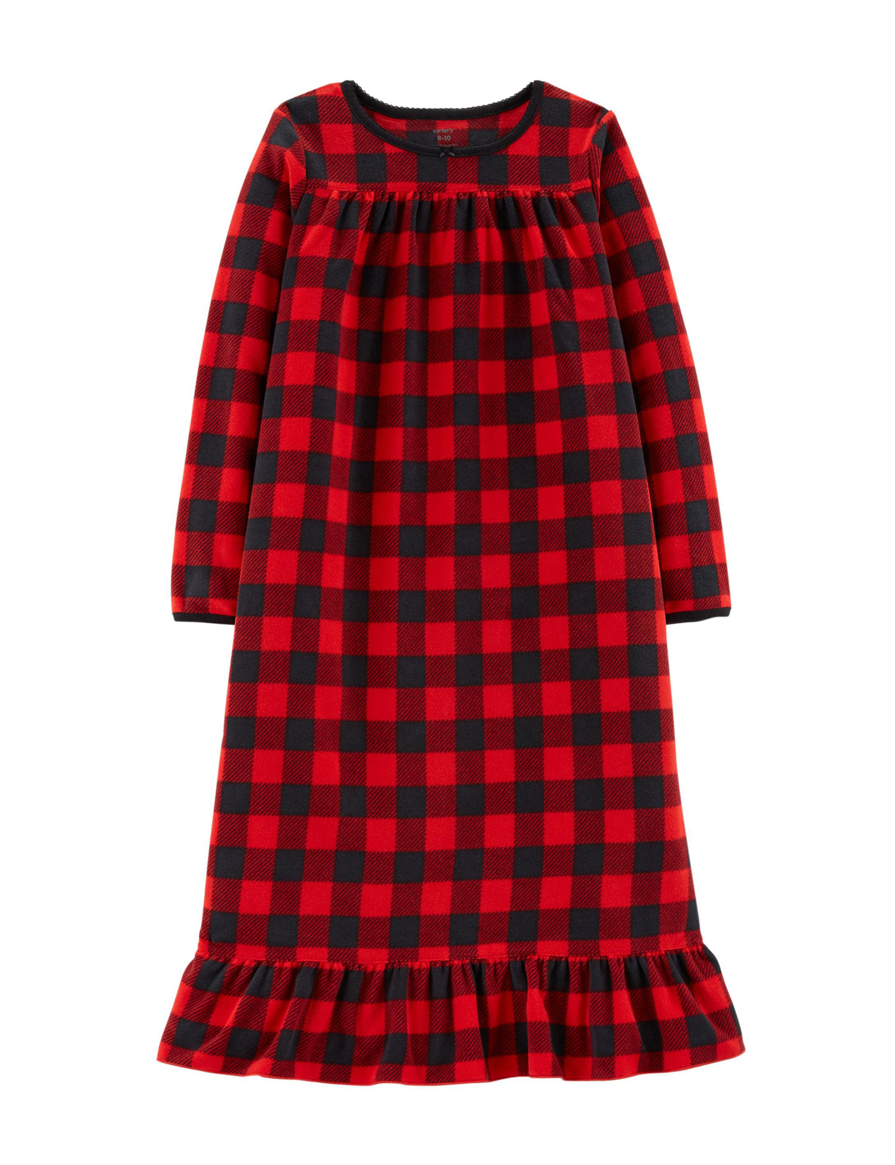 Carter's Red Plaid Nightgowns & Sleep Shirts