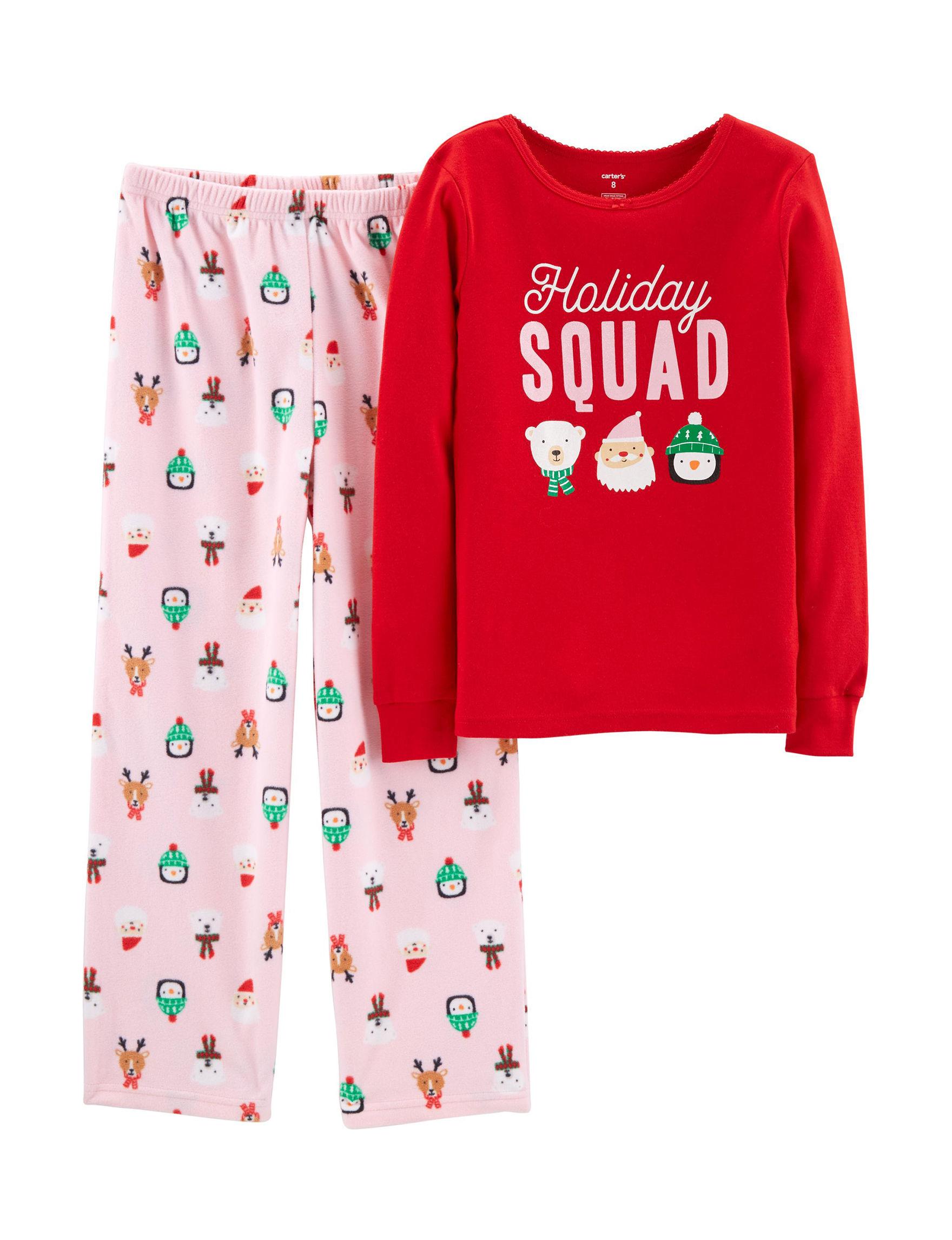 Carter's Pink / Red Pajama Sets