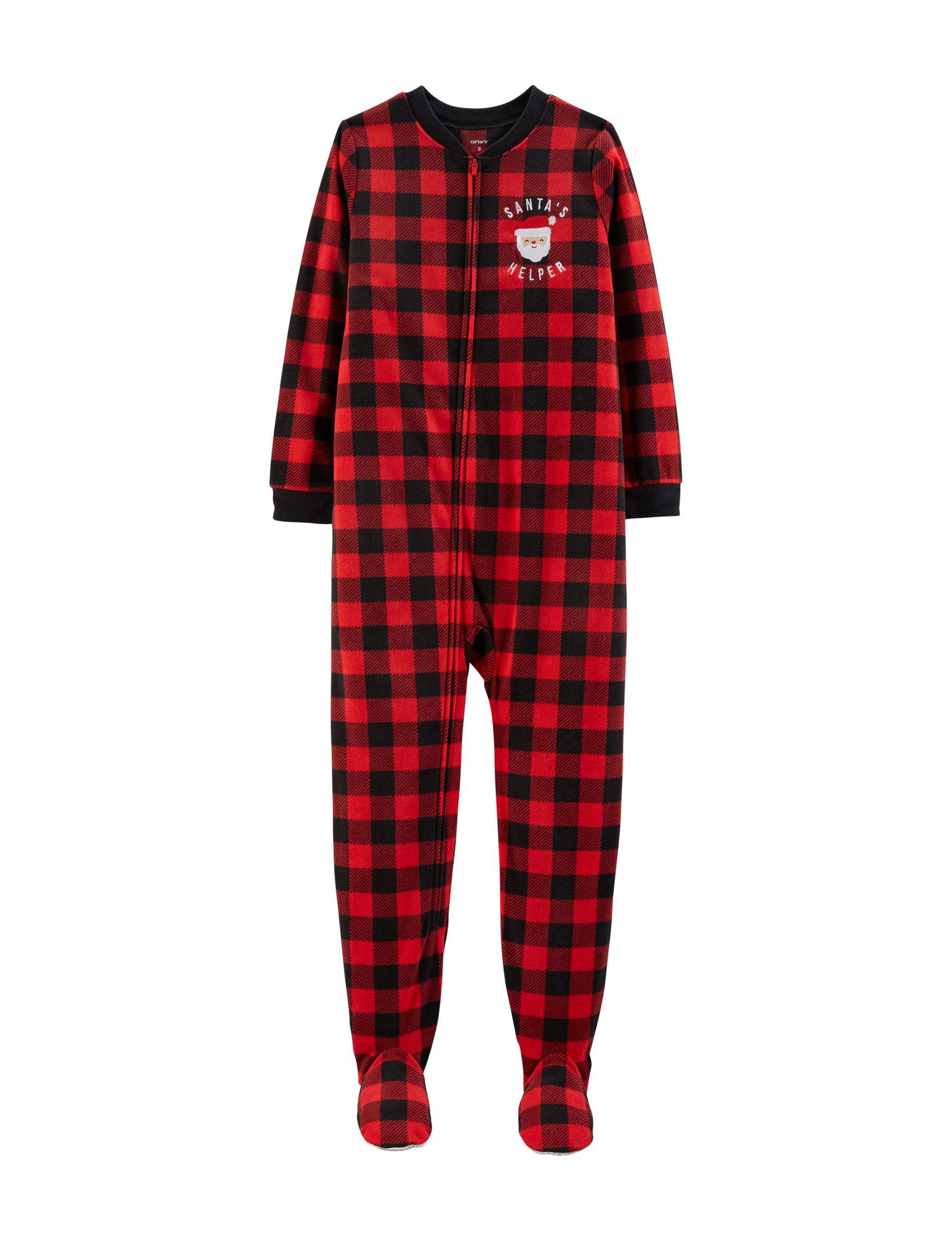 Carter's Red Plaid Pajama Sets