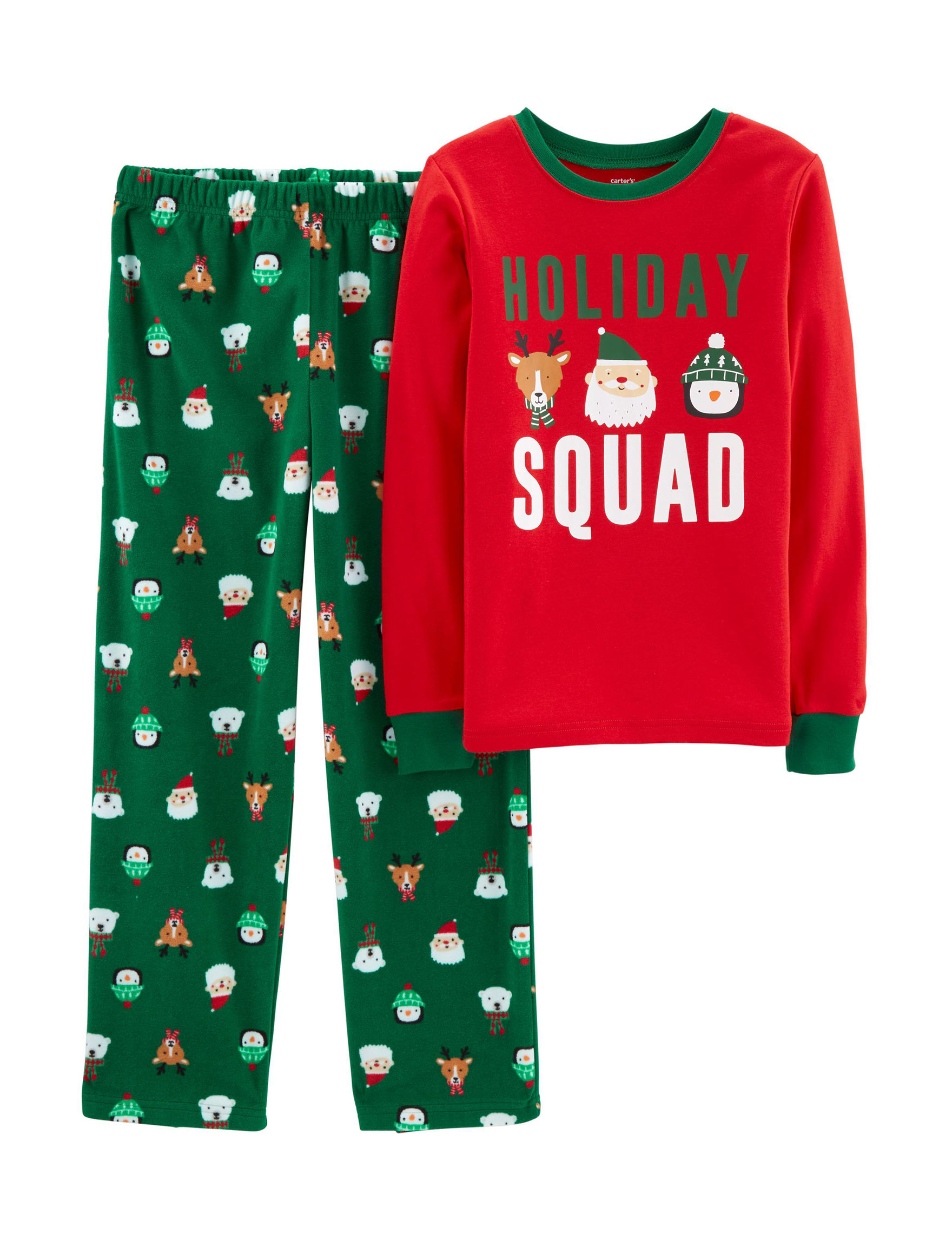 Carter's Red / Green Pajama Sets