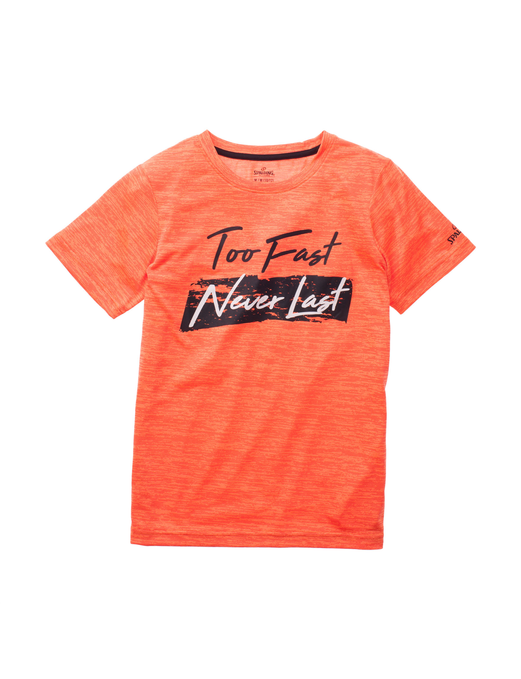 Spalding Neon Orange Tees & Tanks