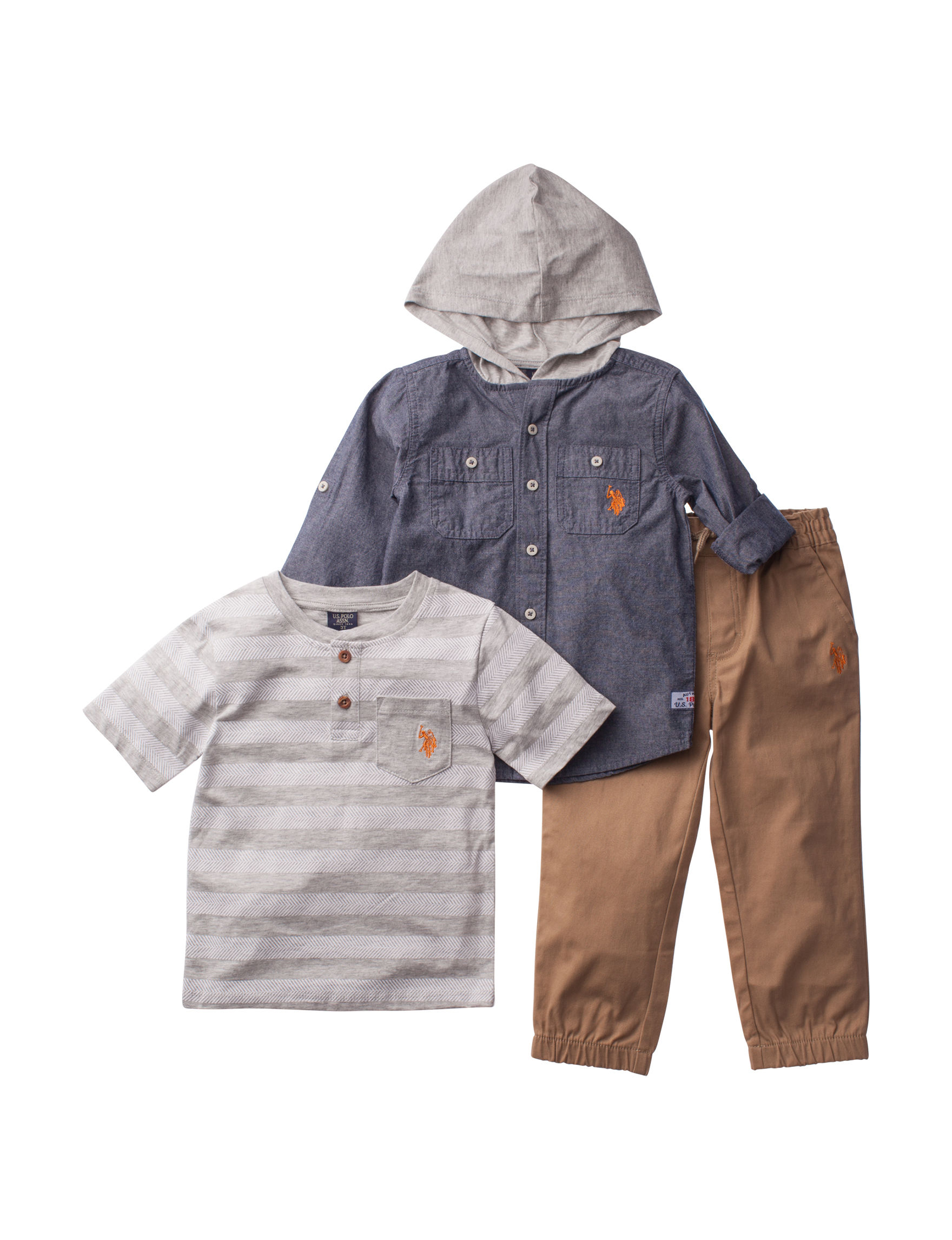 U.S. Polo Assn. Grey Multi Tees & Tanks