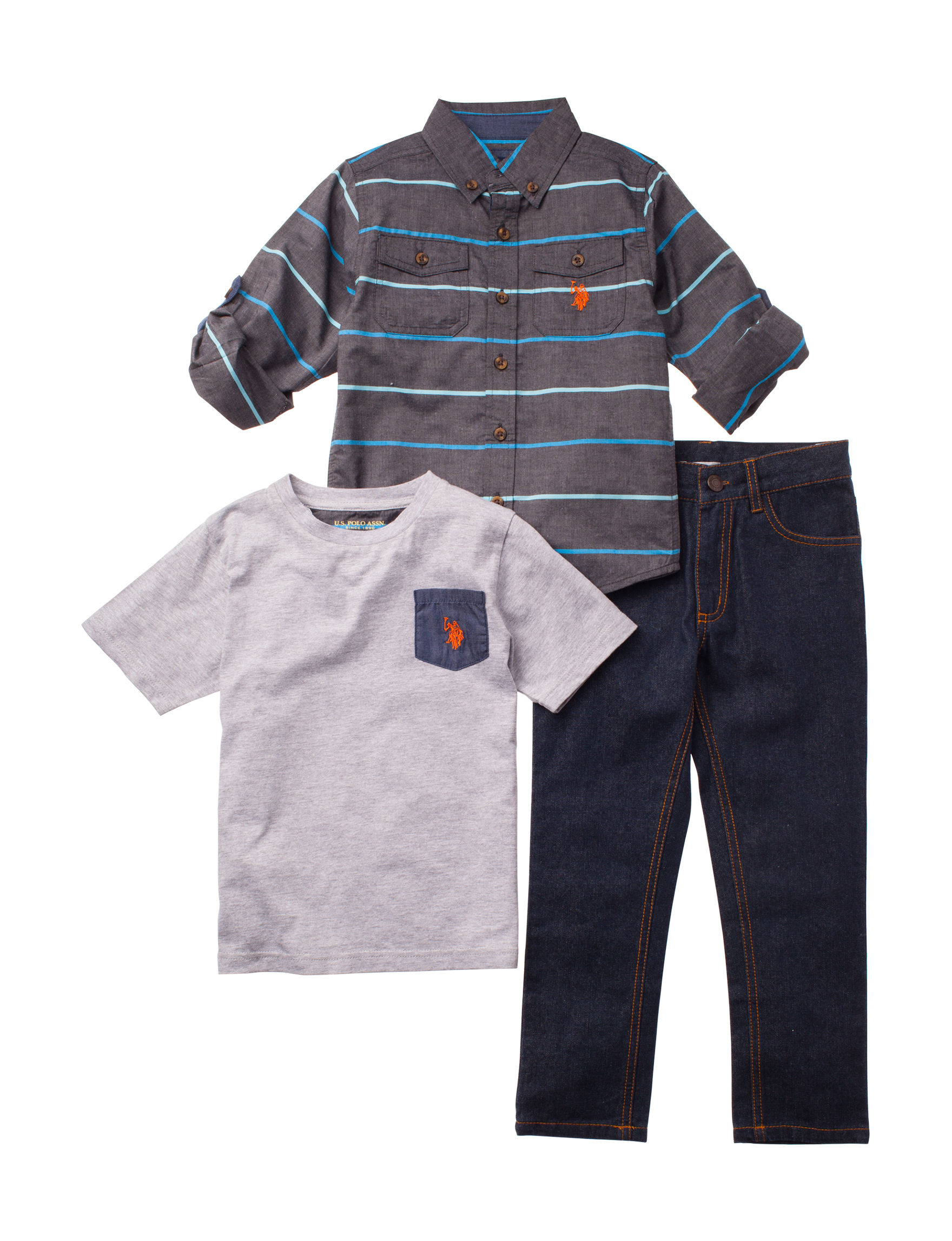 U.S. Polo Assn. Blue Stripe Tees & Tanks