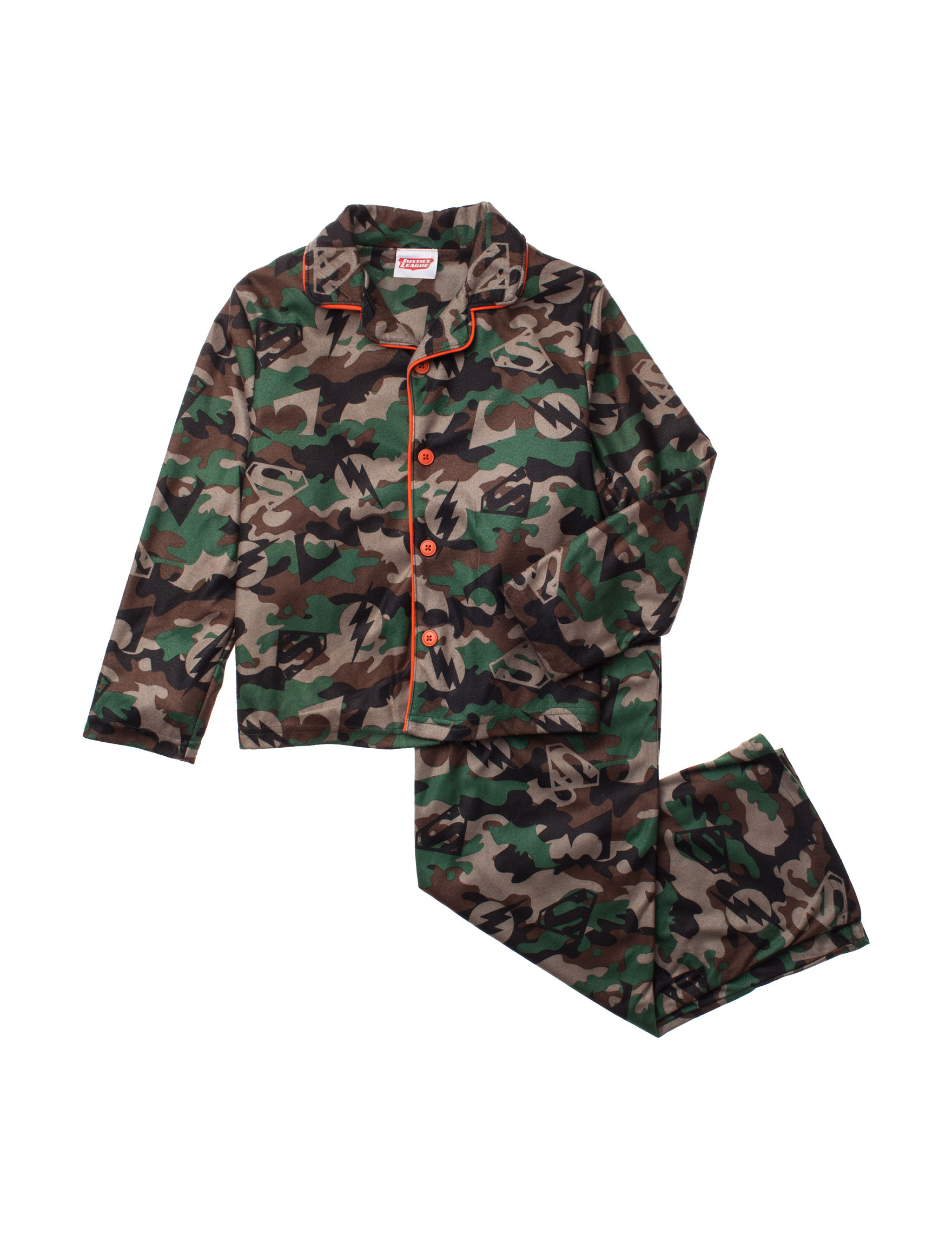 Licensed Green Camo Pajama Sets