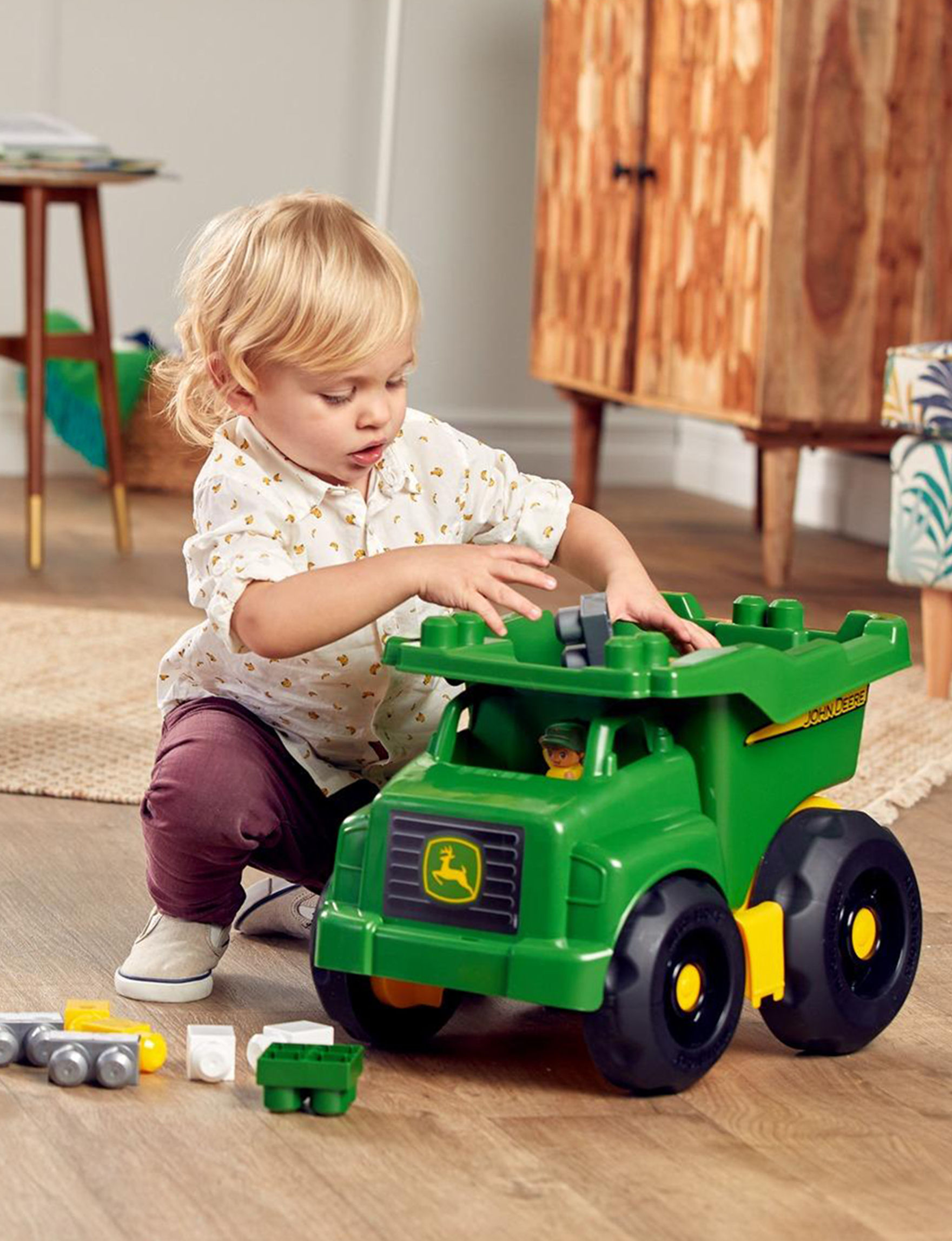 john deere 27-pc. dump truck toy set | stage stores